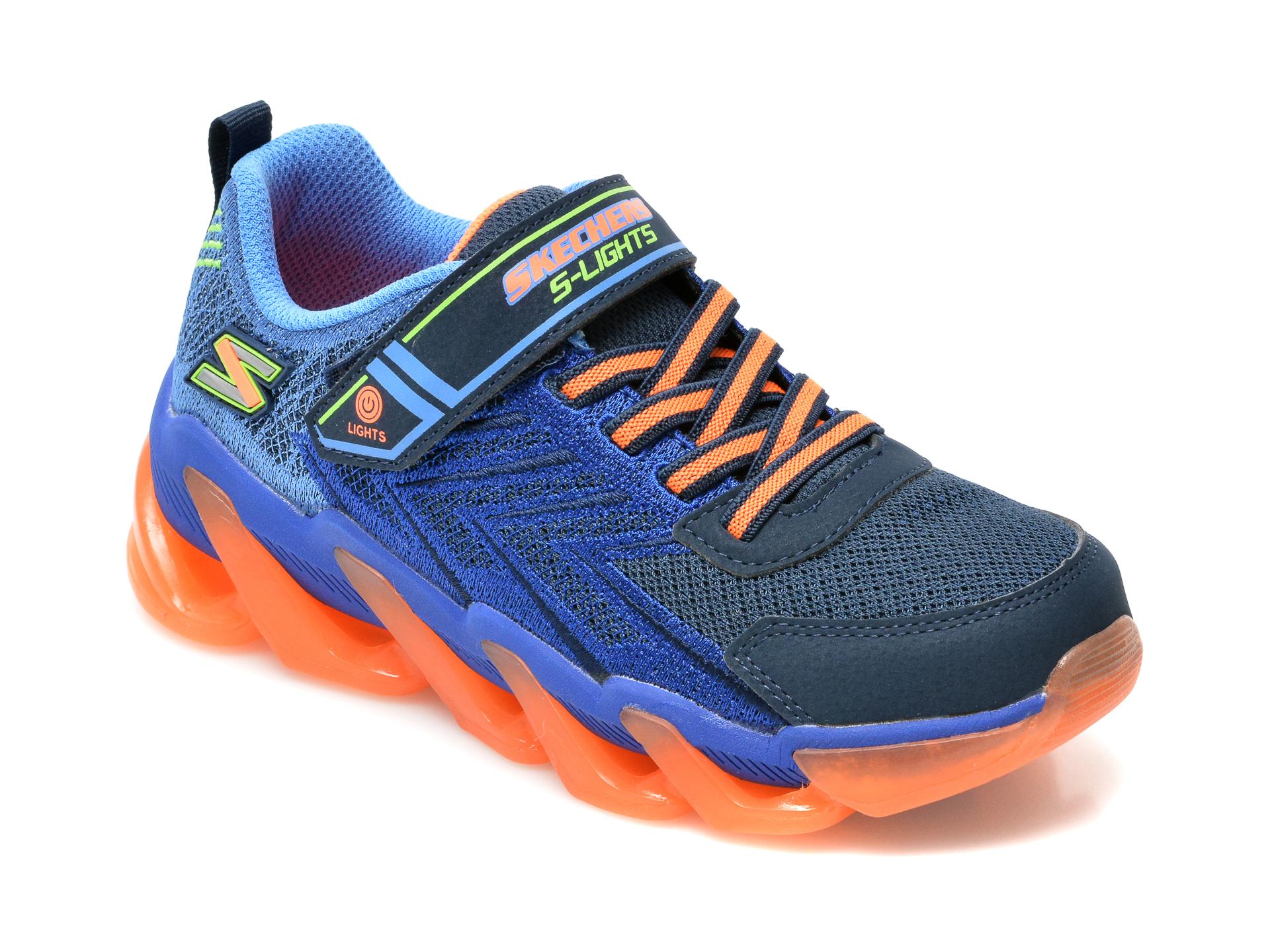Pantofi sport SKECHERS bleumarin, Mega-Surge, din material textil si piele ecologica