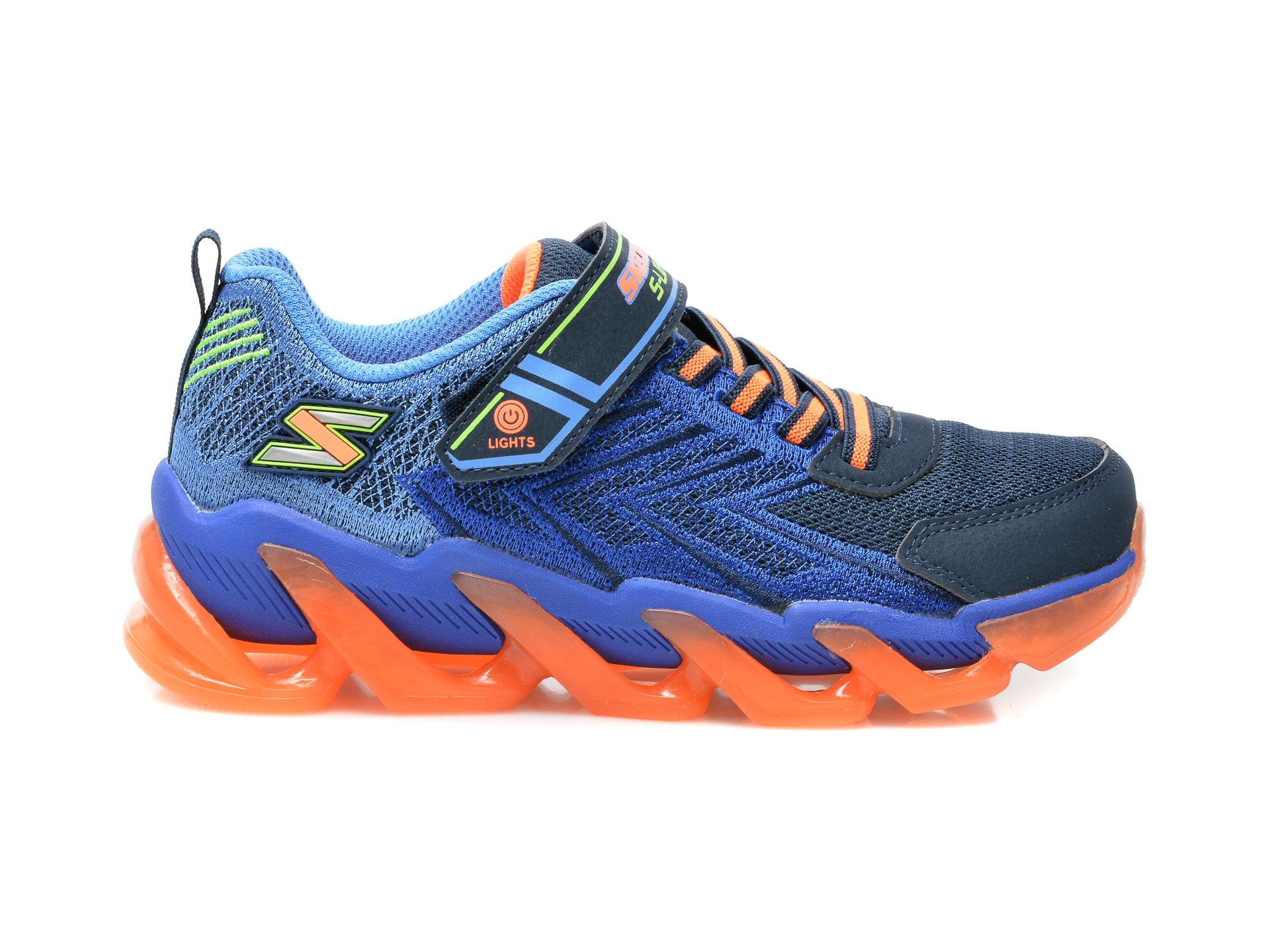 Pantofi sport SKECHERS bleumarin, Mega-Surge, din material textil si piele ecologica - 1