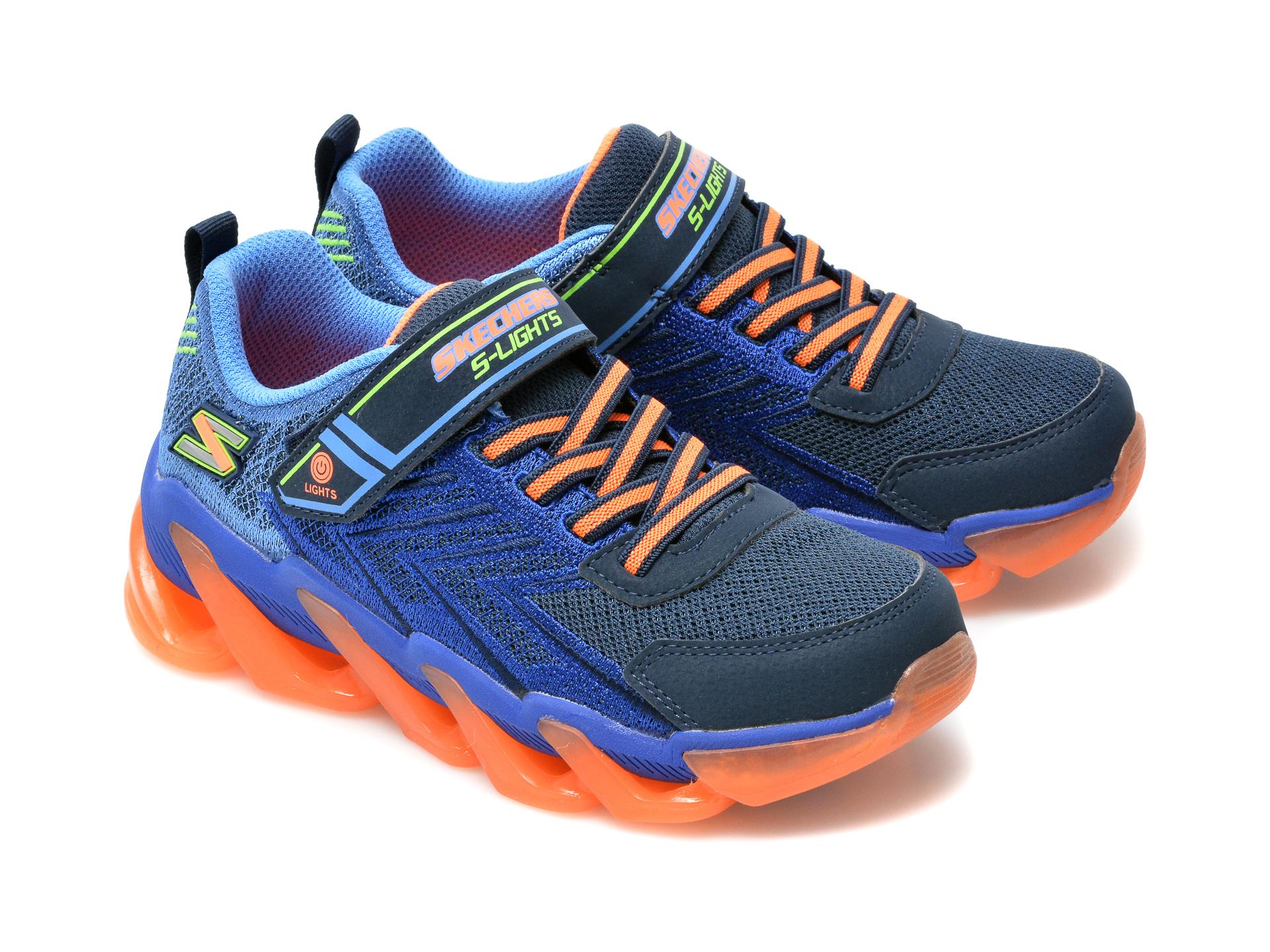 Pantofi sport SKECHERS bleumarin, Mega-Surge, din material textil si piele ecologica - 4