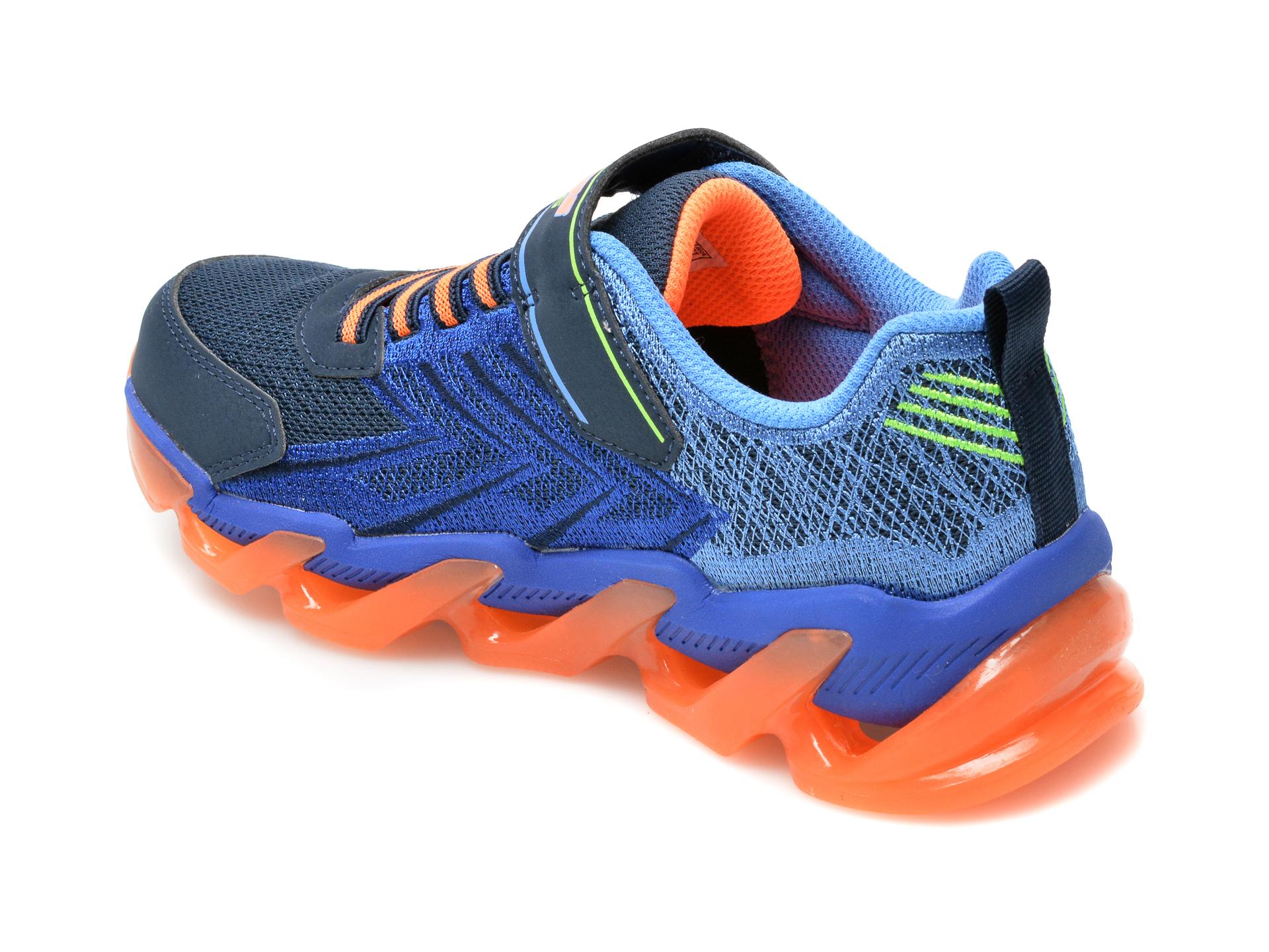 Pantofi sport SKECHERS bleumarin, Mega-Surge, din material textil si piele ecologica - 5