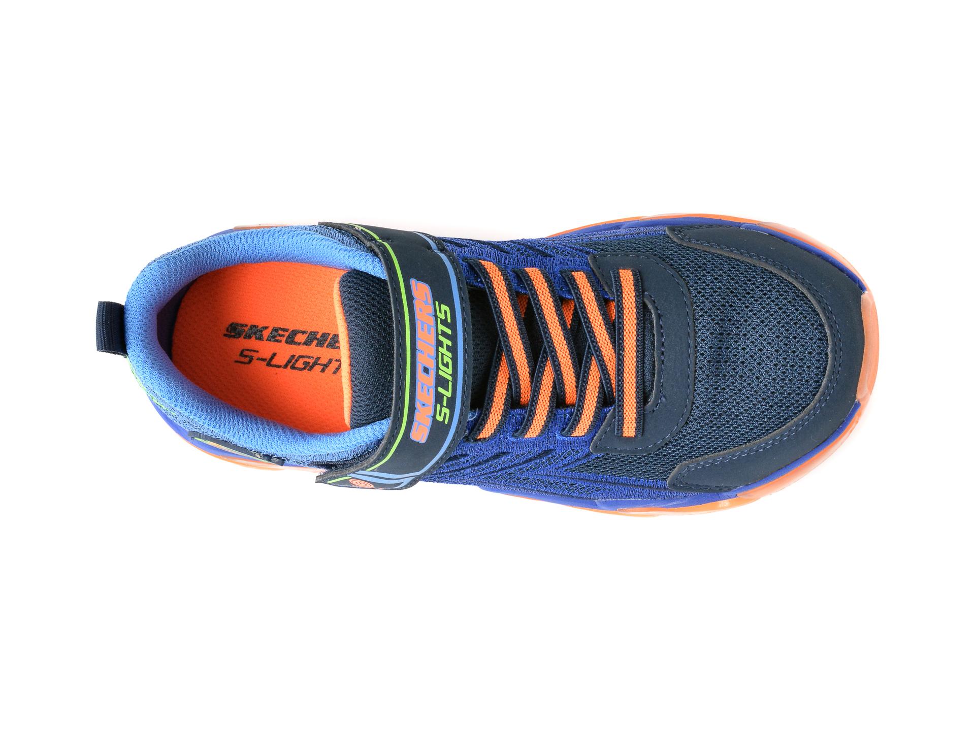 Pantofi sport SKECHERS bleumarin, Mega-Surge, din material textil si piele ecologica - 6