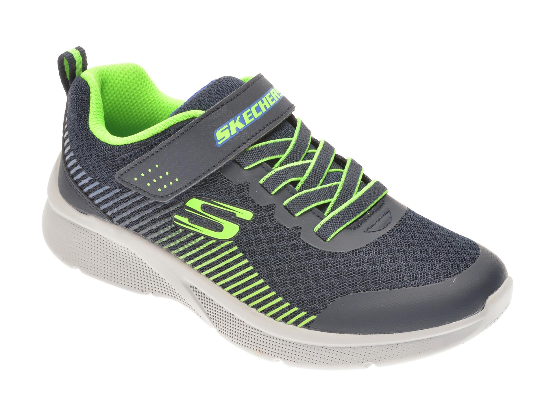 Pantofi sport SKECHERS bleumarin, MICROSPEC GORZA, din material textil