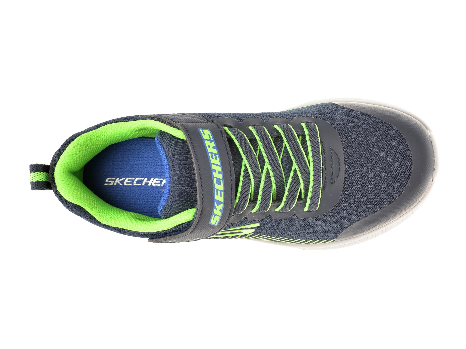 Pantofi sport SKECHERS bleumarin, MICROSPEC GORZA, din material textil - 6