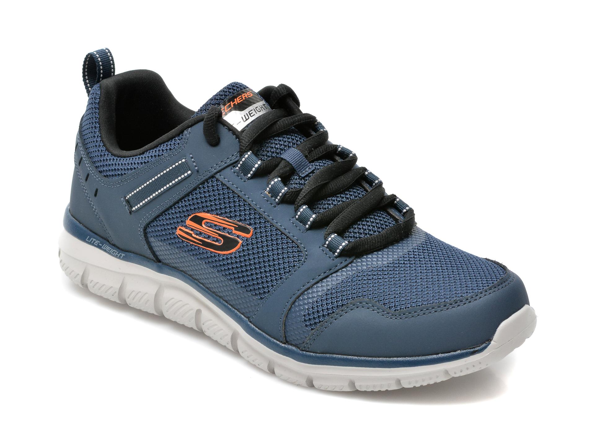 Pantofi sport SKECHERS bleumarin, Track Knockhill, din material textil si piele naturala imagine 2021 otter.ro