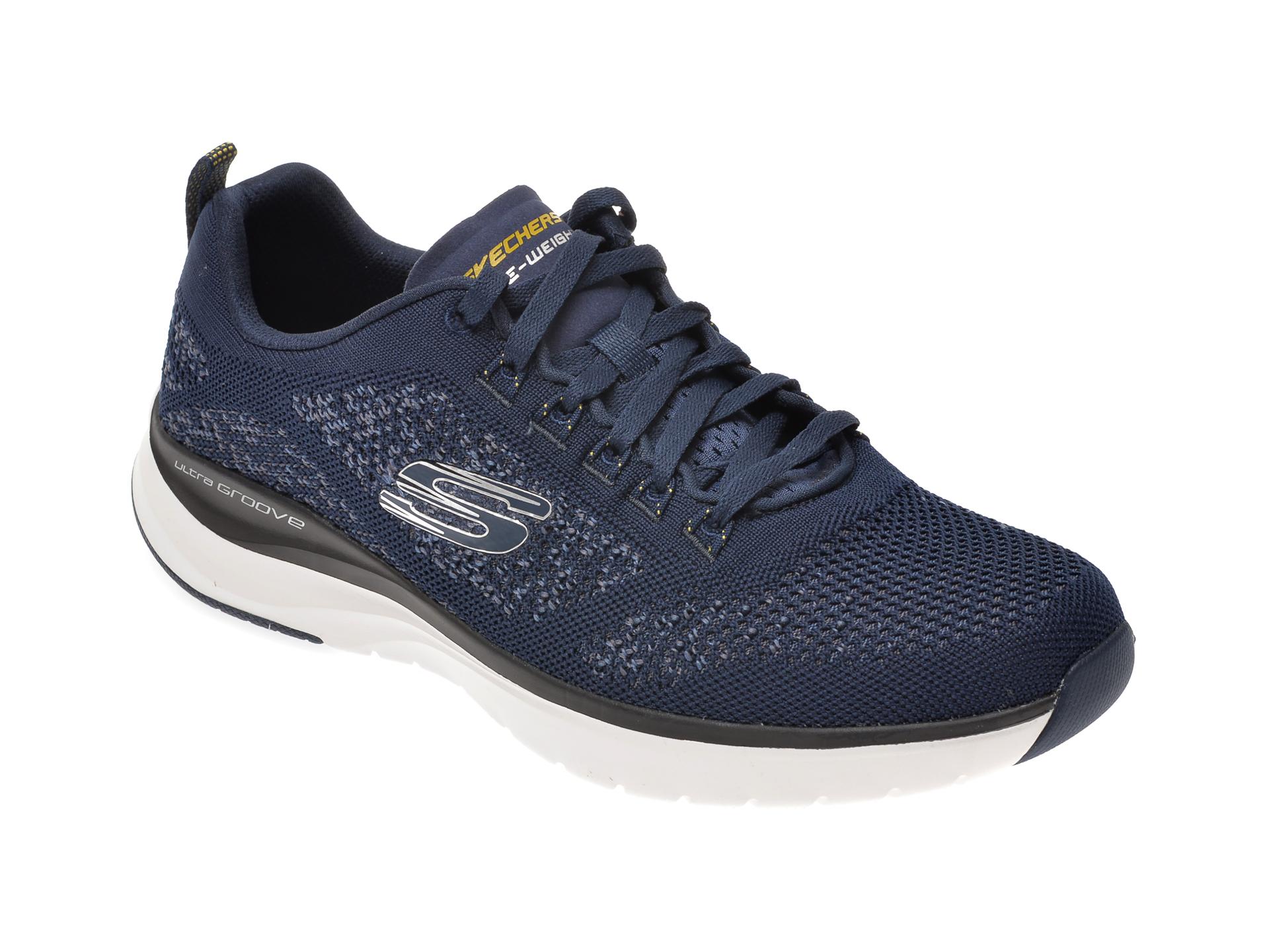 Pantofi sport SKECHERS bleumarin, Ultra Groove, din material textil New