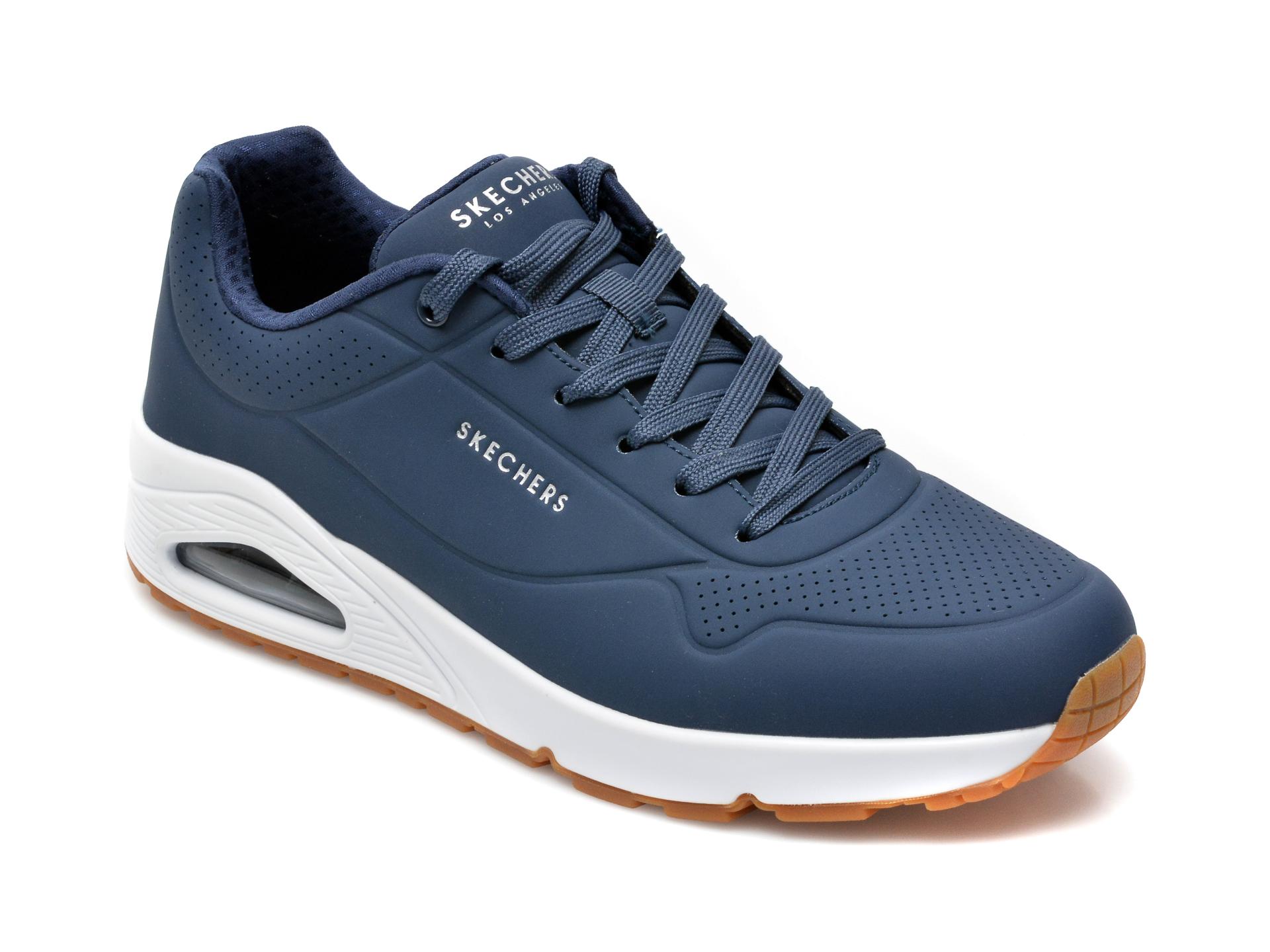 Pantofi sport SKECHERS bleumarin, Uno Stand On Air, din piele ecologica imagine