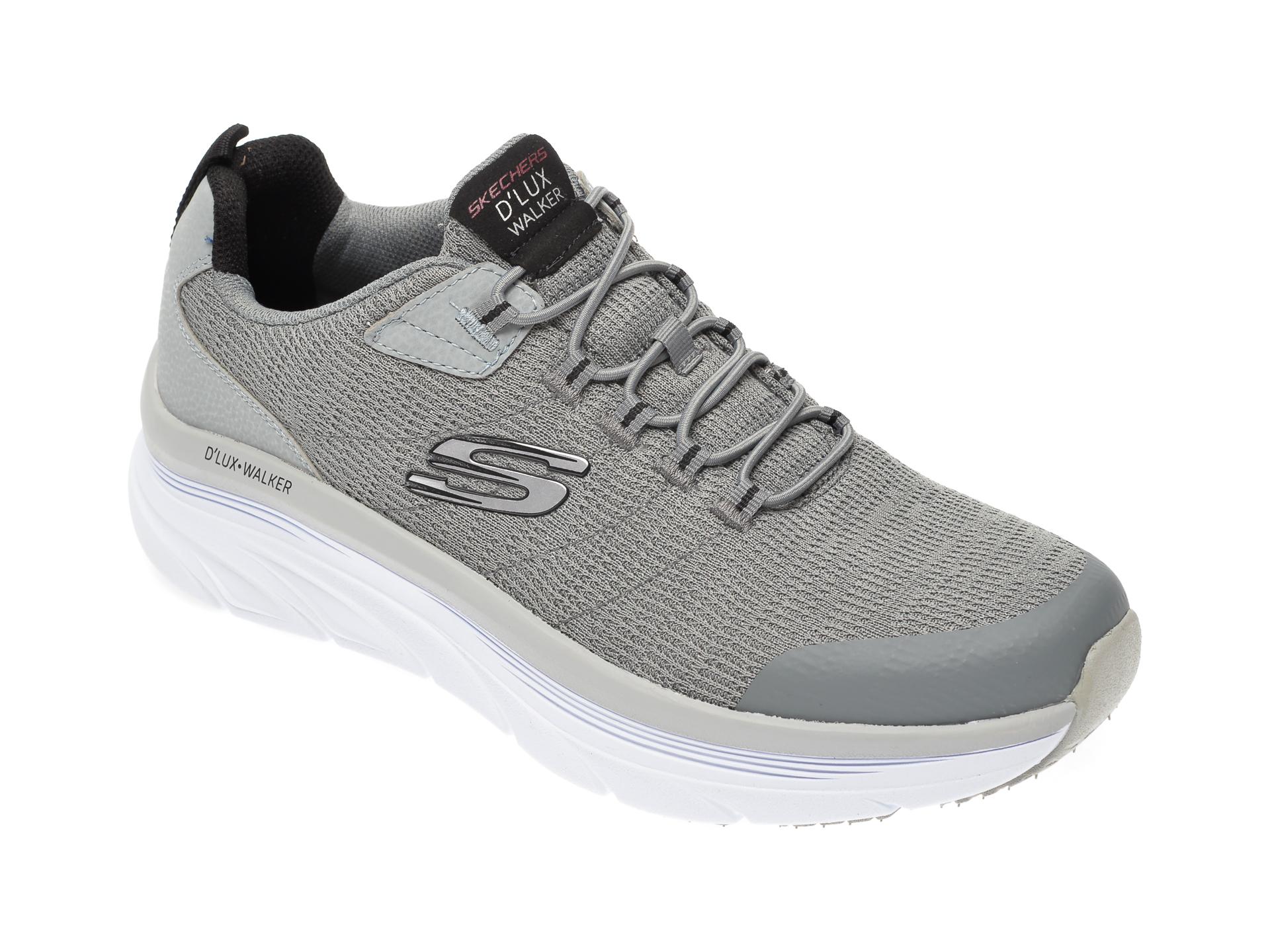 Pantofi sport SKECHERS gri, Dlux Walker Pensive, din material textil imagine