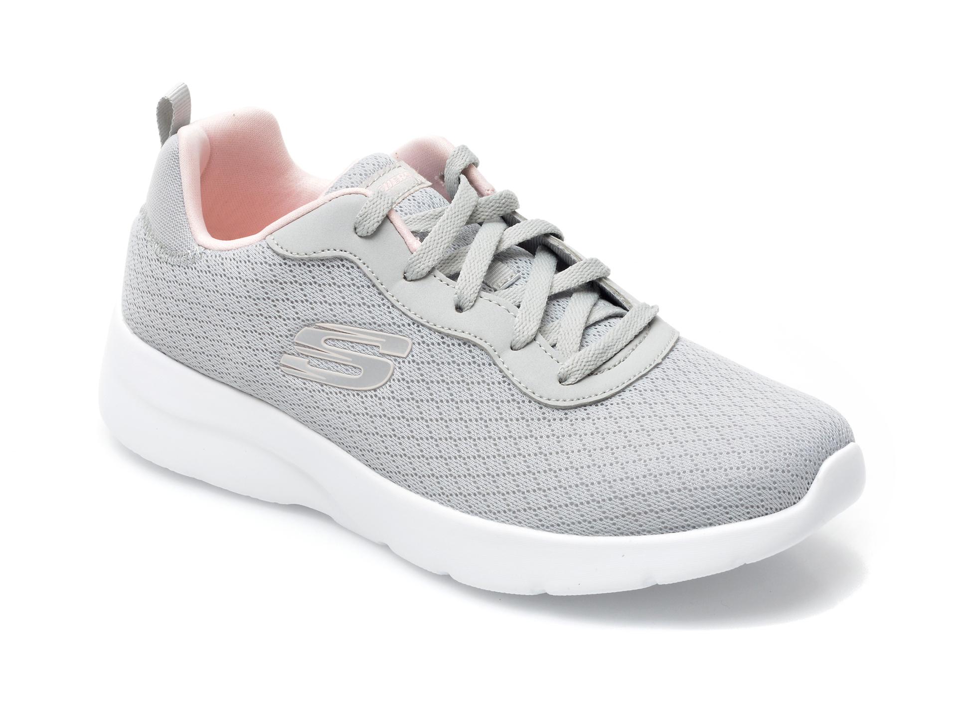 Pantofi Sport Skechers Gri, Dynamight 2.0 Eye To Eye, Din Material Textil