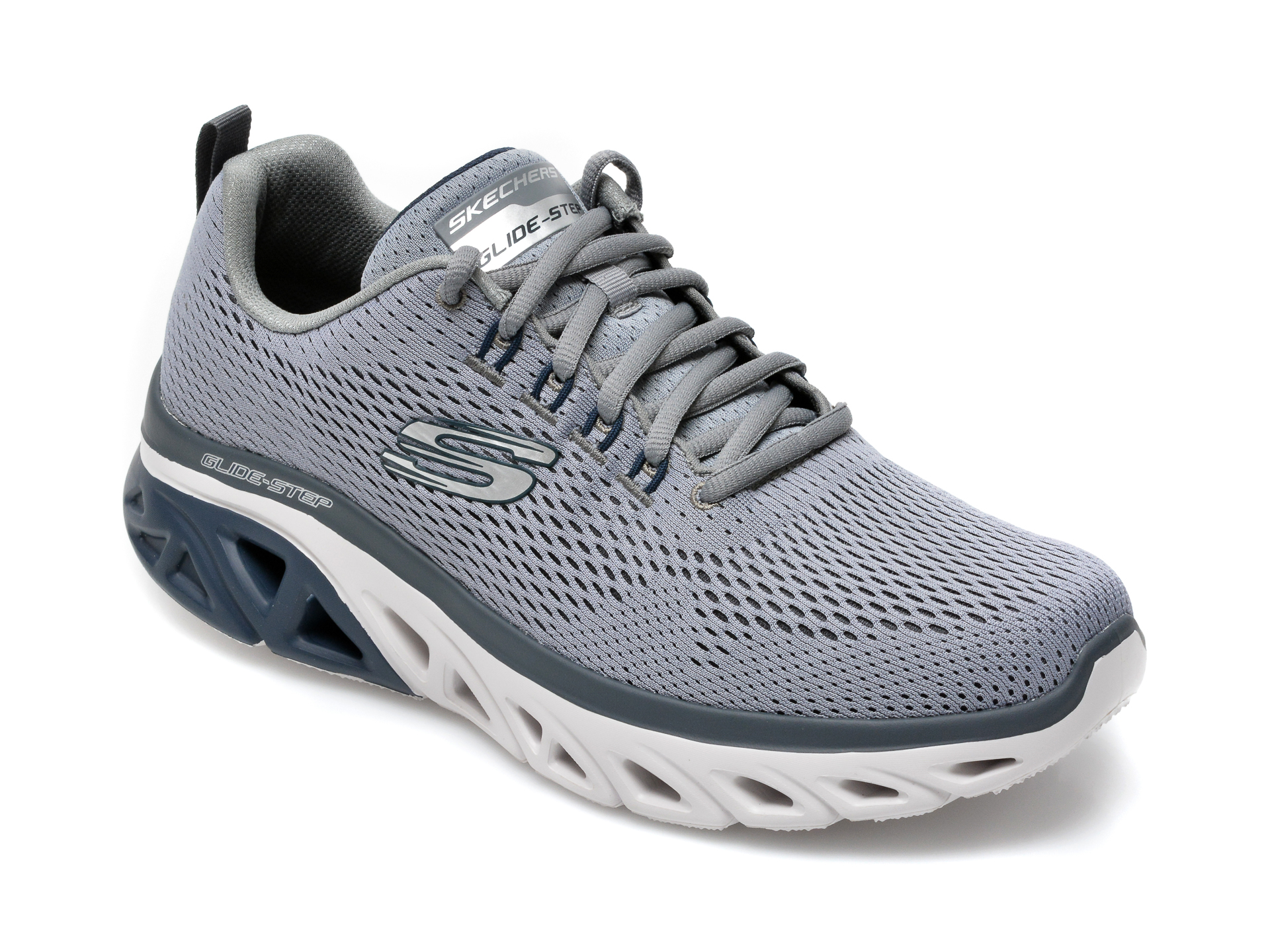 Pantofi sport SKECHERS gri, Glide, din material textil imagine