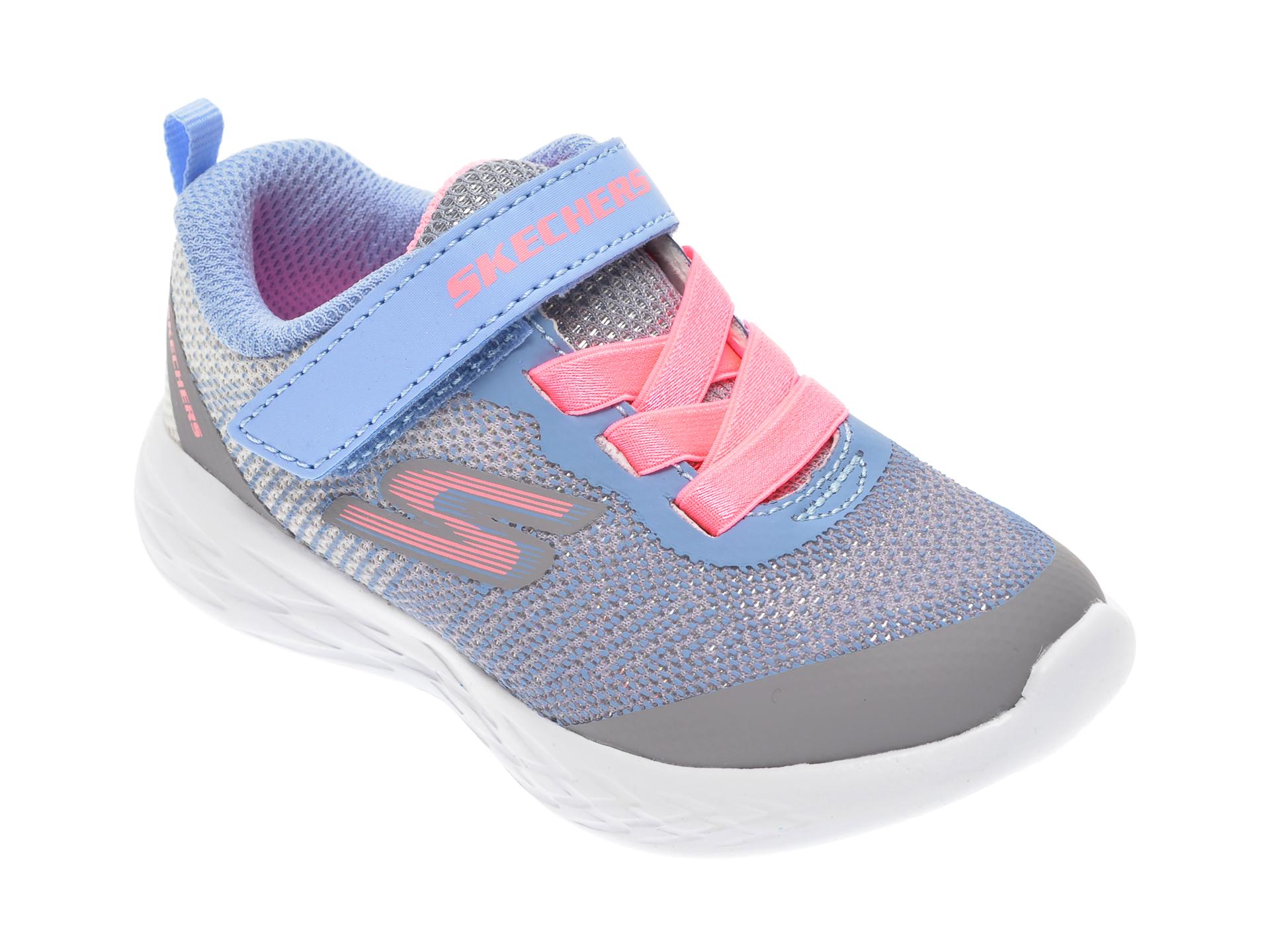 Pantofi sport SKECHERS gri, Go Run 600 Dazzle Strides, din material textil New