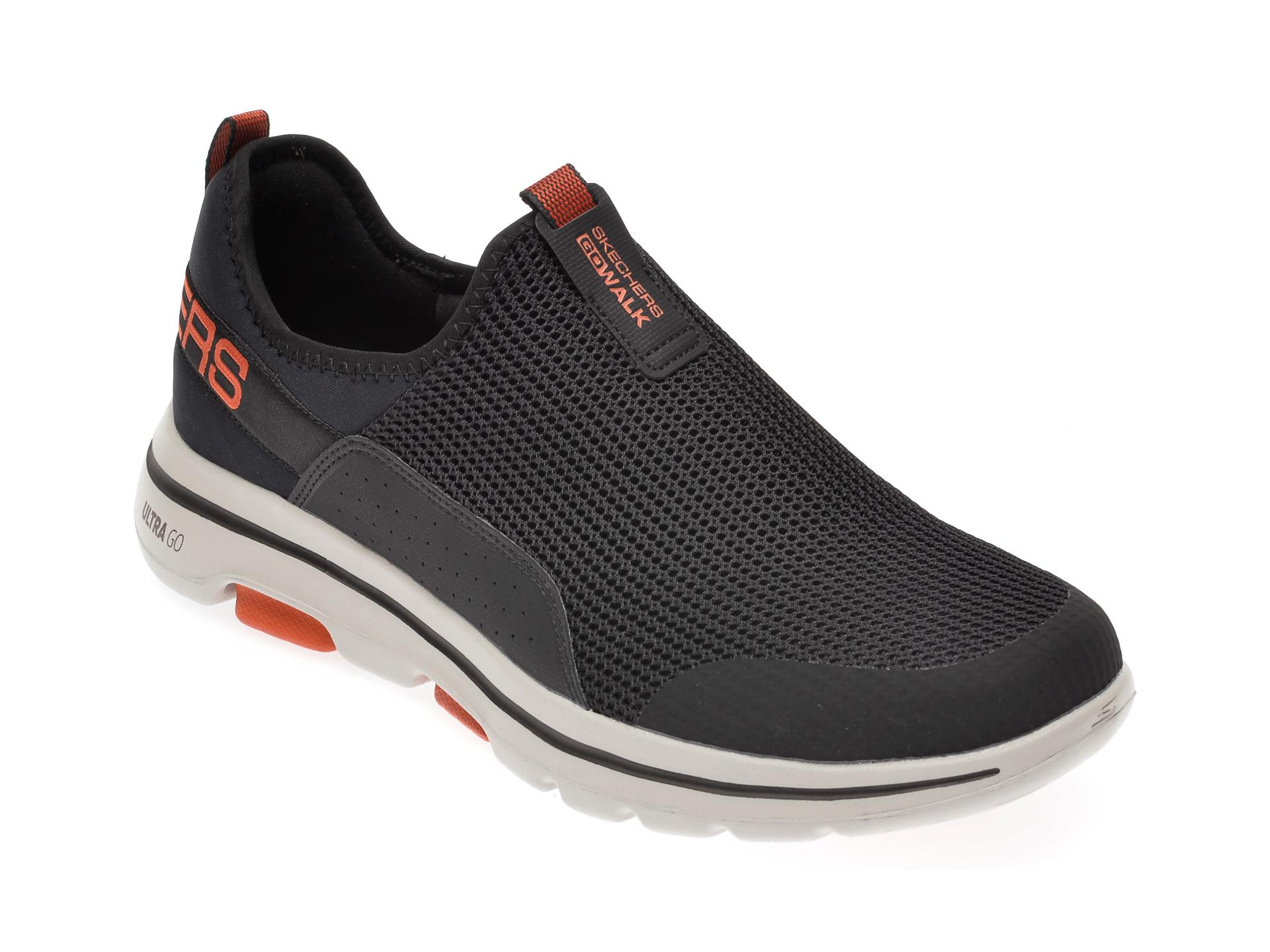 Pantofi sport SKECHERS gri, Go Walk 5, din material textil imagine