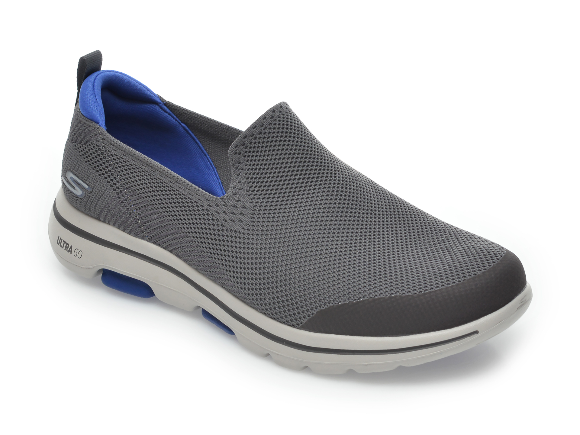 Pantofi sport SKECHERS gri, Go Walk, din material textil imagine