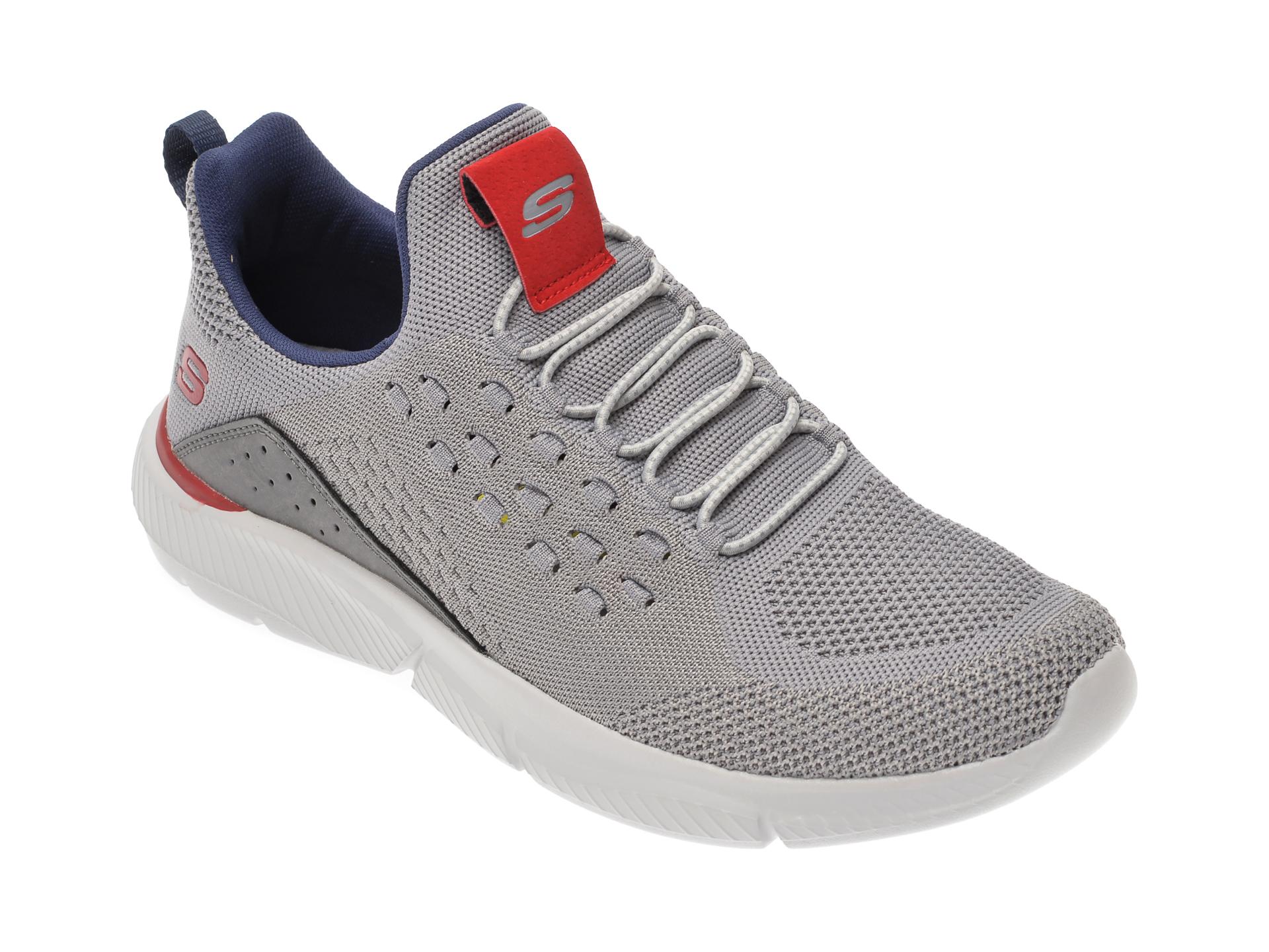 Pantofi sport SKECHERS gri, Ingram Streetway, din material textil imagine