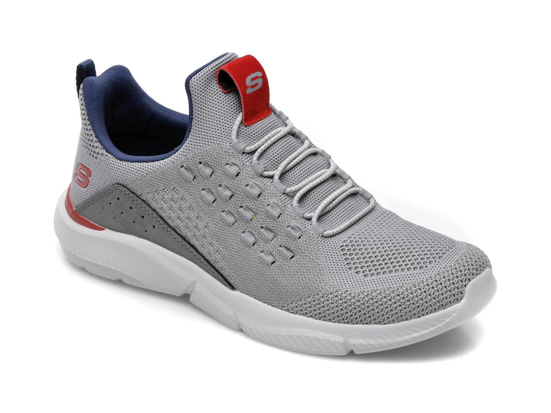 Pantofi sport SKECHERS gri, Ingramstreetway, din material textil imagine