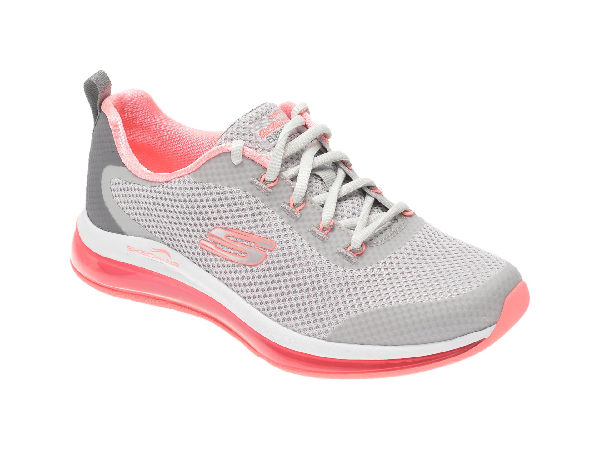 Pantofi sport SKECHERS gri, Skech-Air Element 2.0 Looking Fast, din material textil New