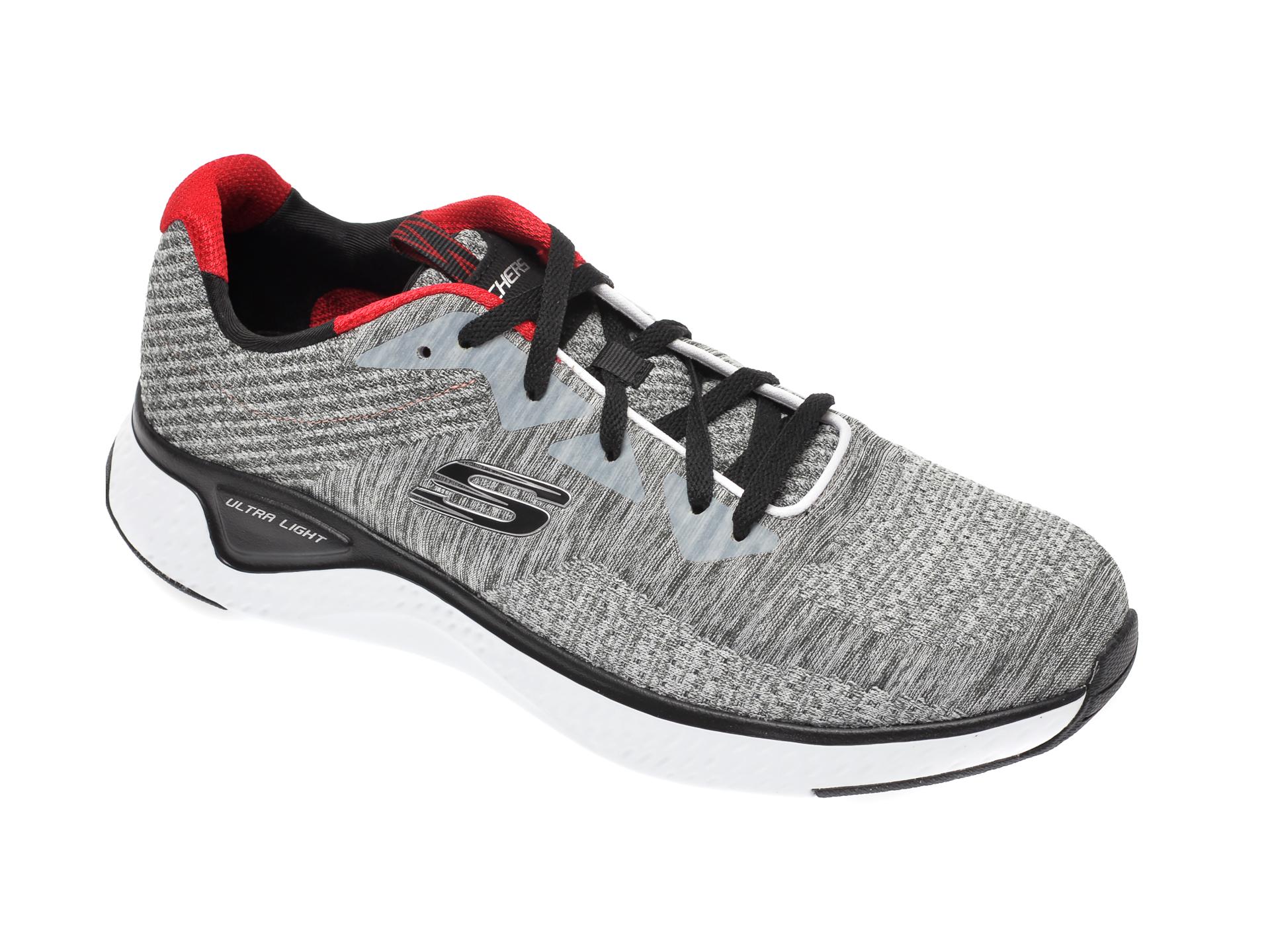 Pantofi sport SKECHERS gri, Solar Fuse Kryzik, din material textil imagine