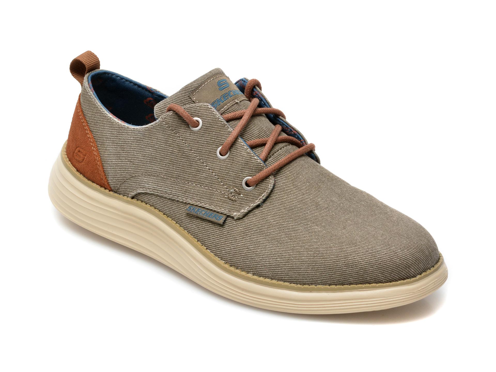 Pantofi sport SKECHERS gri, Status 2.0 Pexton, din material textil imagine otter.ro