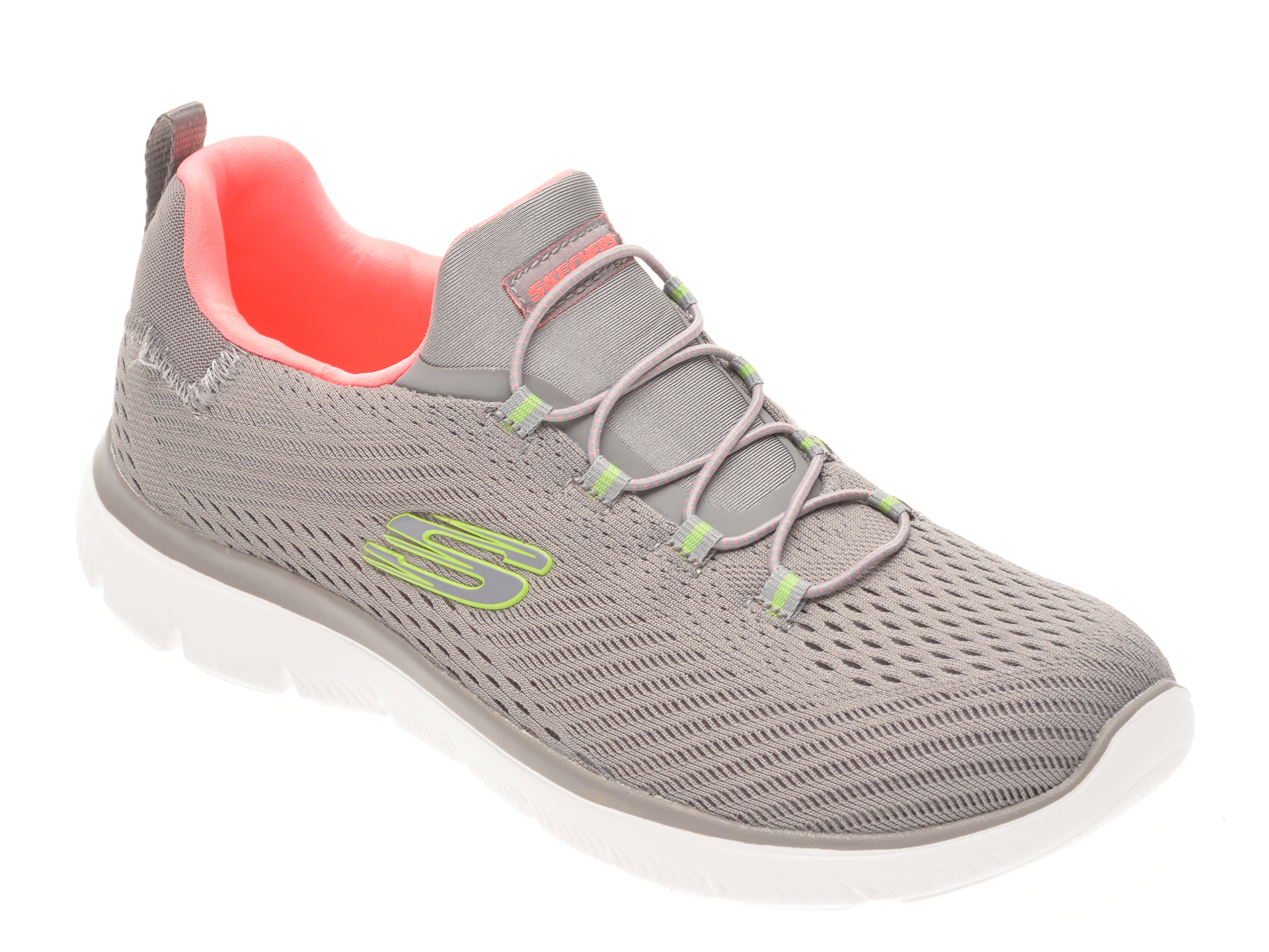 Pantofi sport SKECHERS gri, SUMMITS FAST ATTRACTION, din material textil imagine