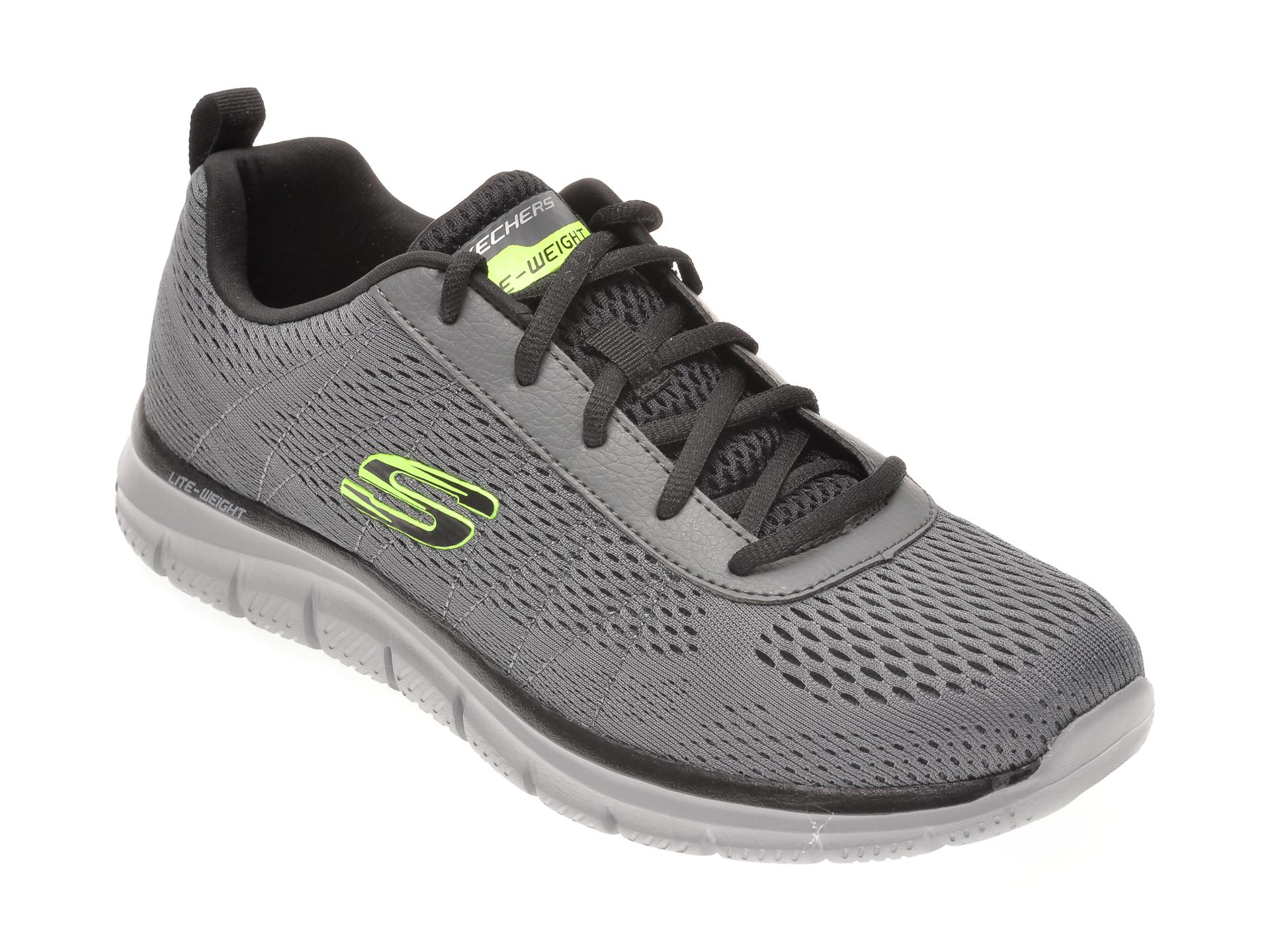 Pantofi sport SKECHERS gri, TRACK MOULTON, din material textil imagine