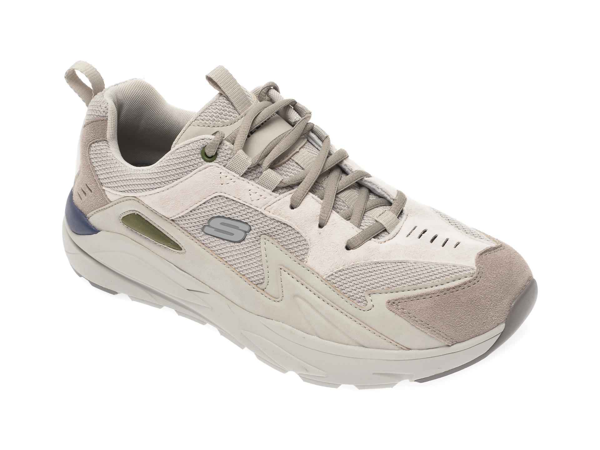 Pantofi sport SKECHERS gri, Verrado, din material textil si piele intoarsa imagine