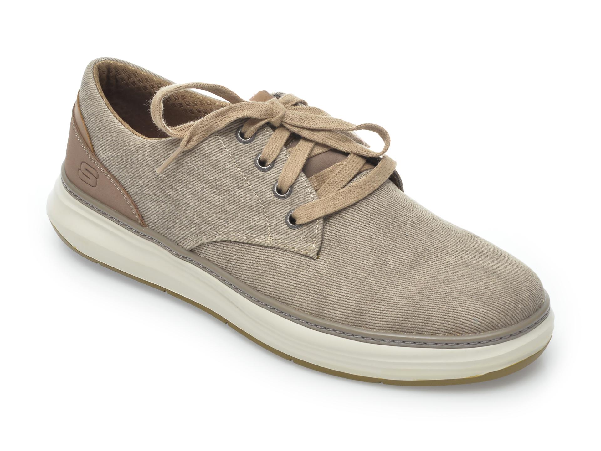 Pantofi sport SKECHERS kaki, Moreno Ederson, din material textil imagine