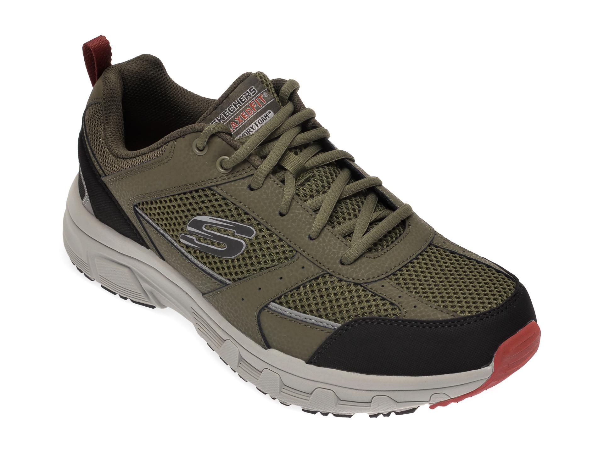 Pantofi sport SKECHERS kaki, Oak Canyon Verketta, din material textil imagine
