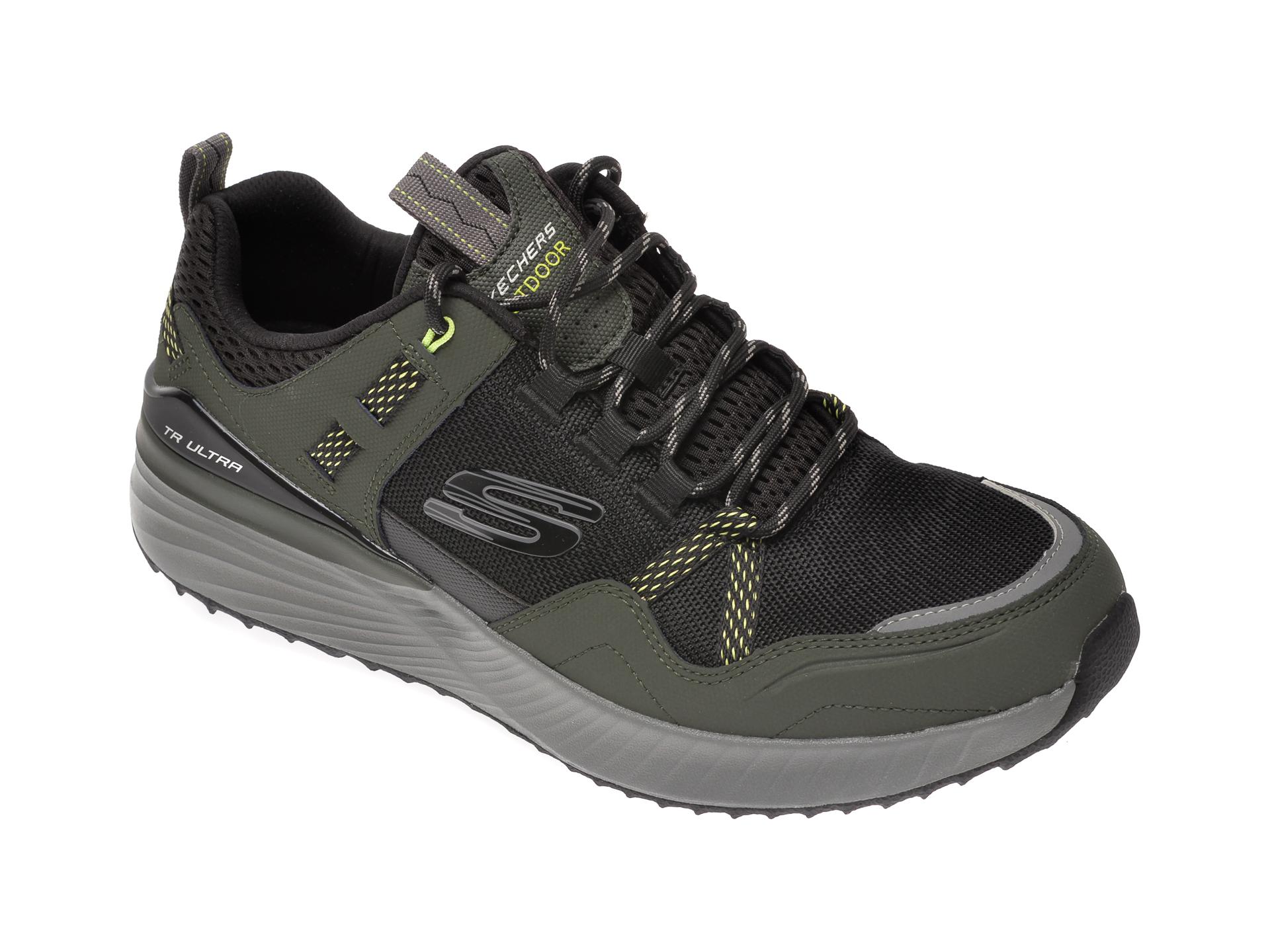 Pantofi sport SKECHERS kaki, Ultra Flex Tr, din material textil si piele naturala imagine