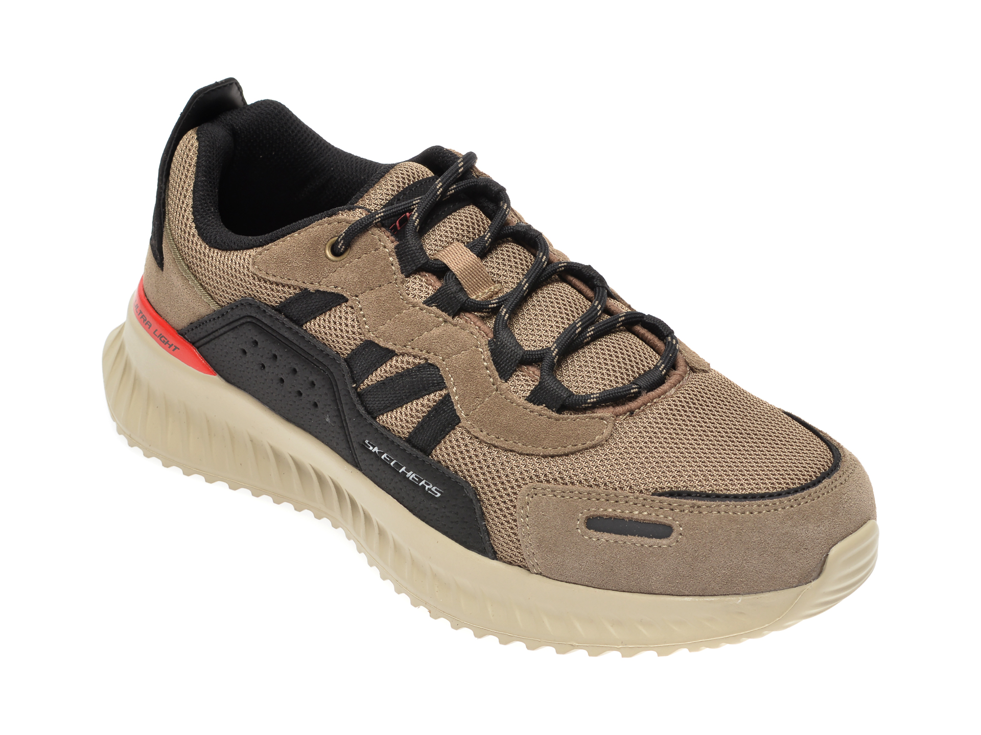 Pantofi sport SKECHERS maro Matera 2.0, din material textil si piele intoarsa imagine