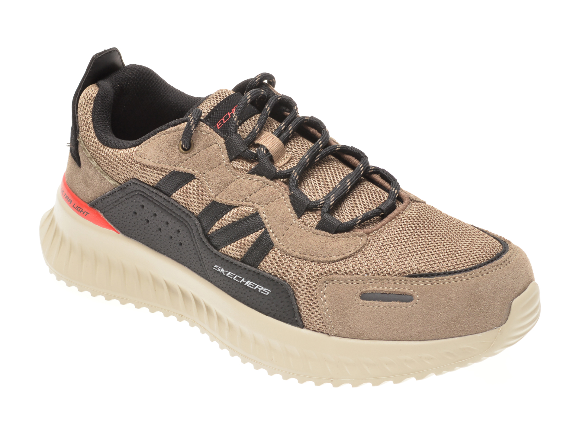 Pantofi sport SKECHERS maro, MATERA 2.0 XIMINO, din material textil si piele intoarsa imagine