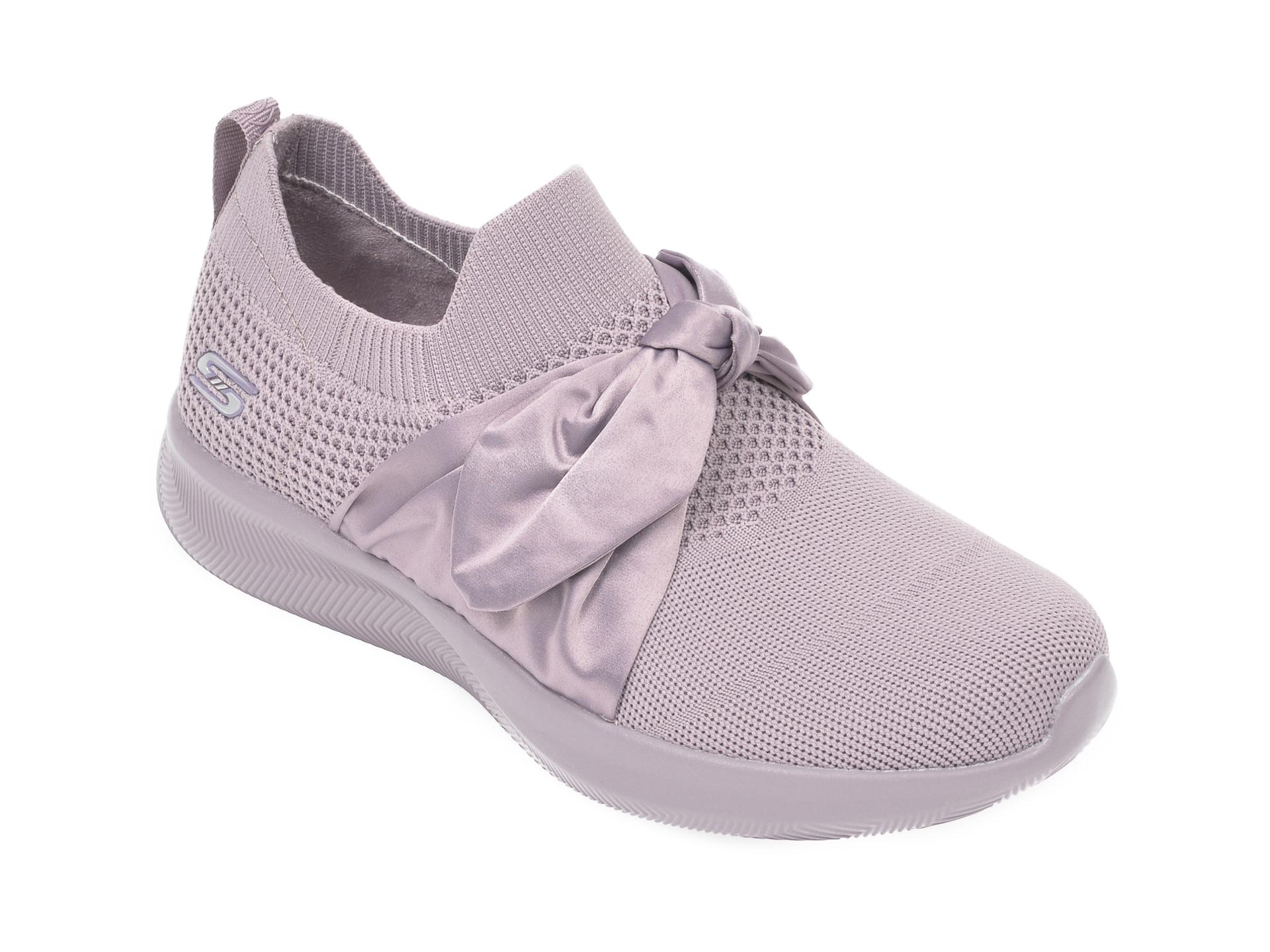 Pantofi sport SKECHERS mov, Bobs Squad 2 Bow Beauty, din material textil