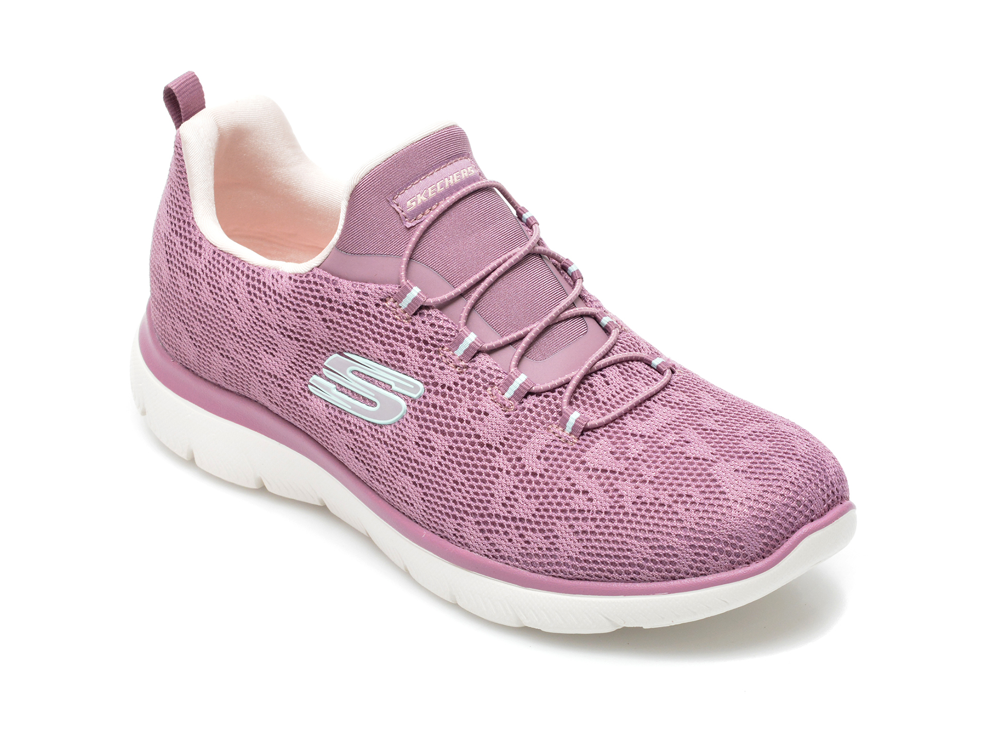 Pantofi sport SKECHERS mov, Summitsleopard Spot, din material textil
