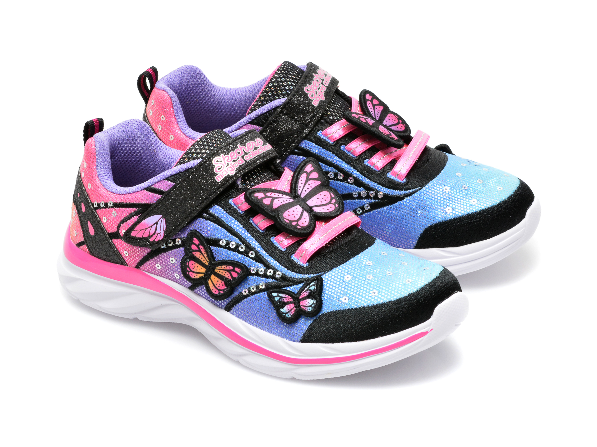 Pantofi sport SKECHERS multicolor, 302207L, din material textil - 4