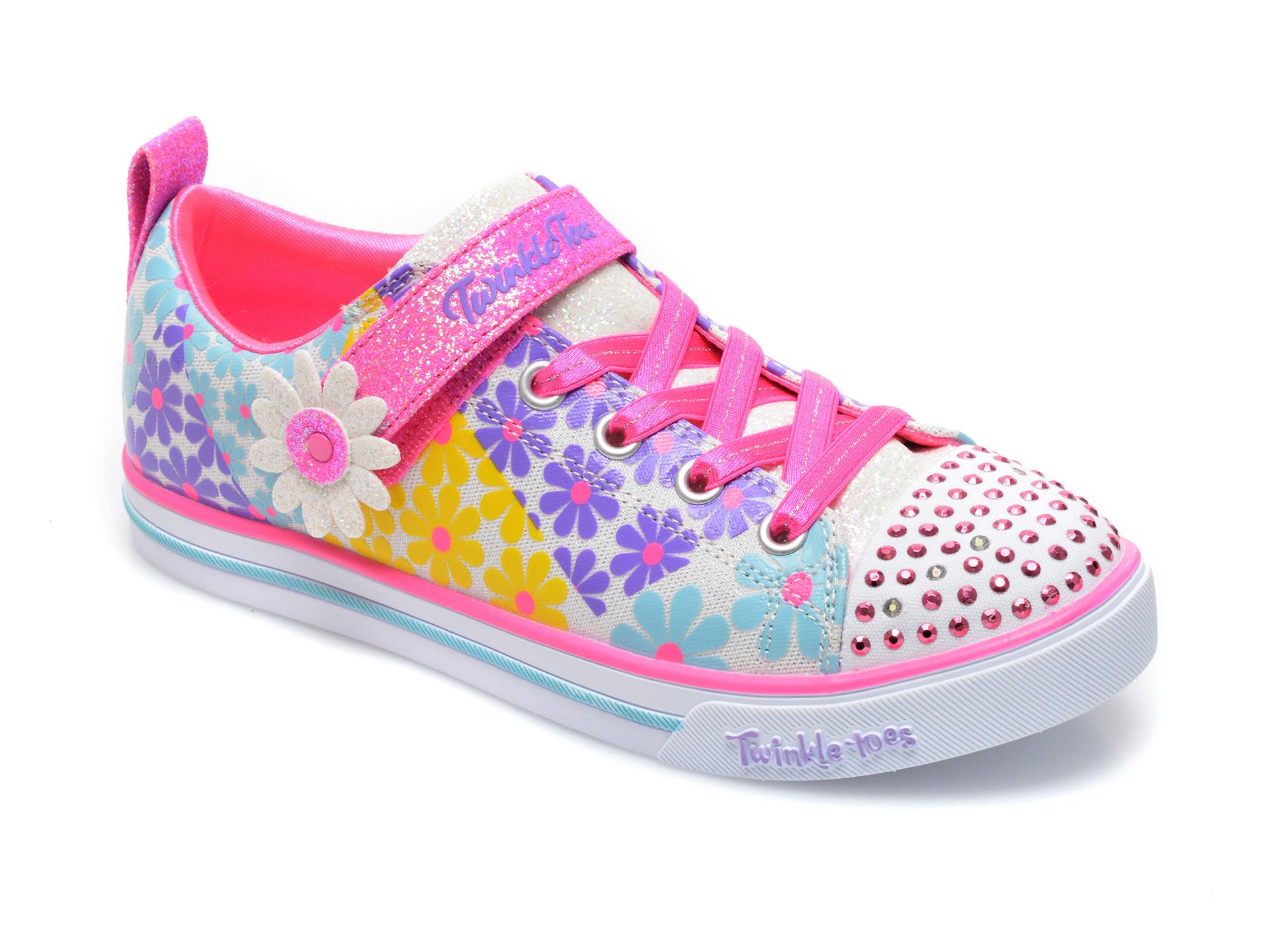 Pantofi sport SKECHERS multicolor, 314761L, din material textil imagine otter.ro