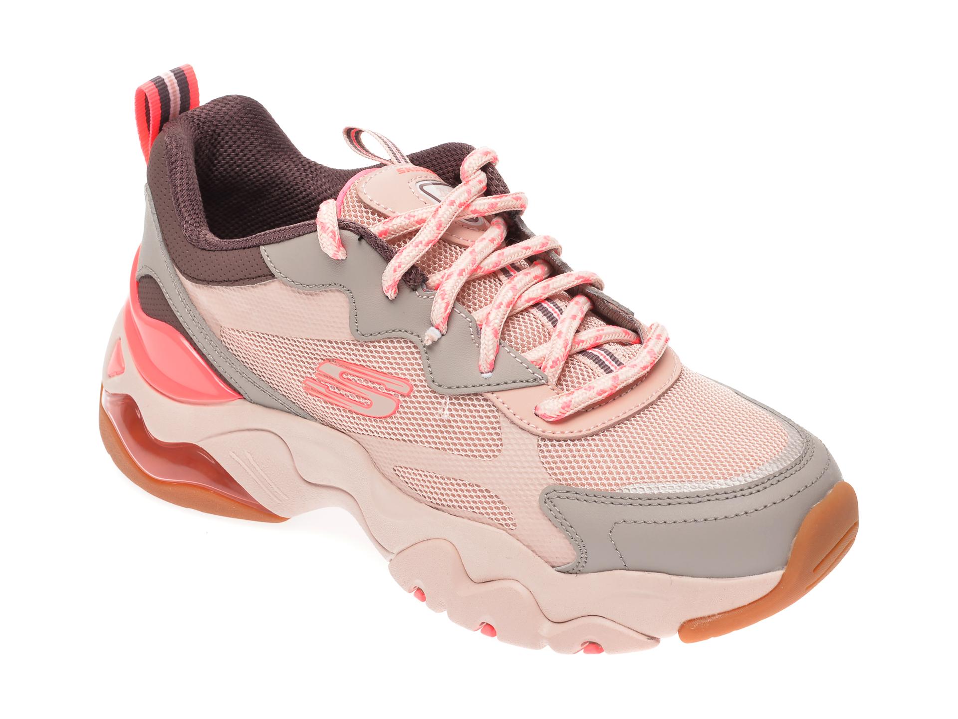 Pantofi sport SKECHERS multicolor, Dlites 3.0 Air, din material textil si piele naturala New
