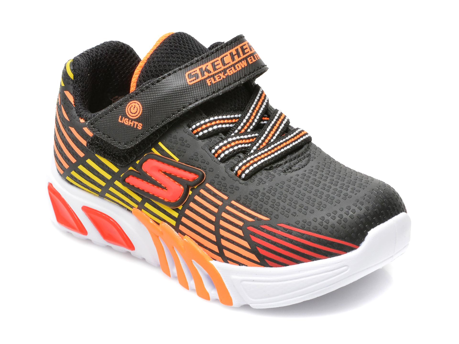 Pantofi sport SKECHERS multicolor, FLEX-GLOW ELITE, din piele ecologica
