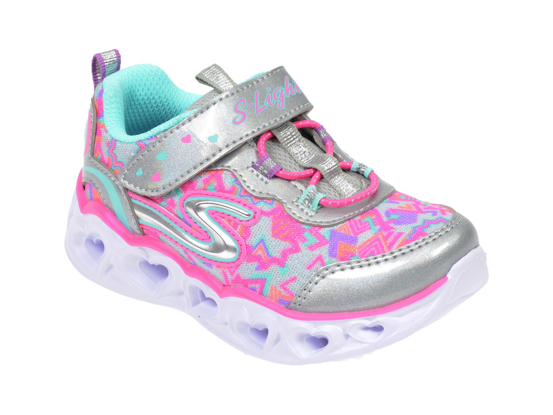 Pantofi sport SKECHERS multicolor, Heart Lights, din material textil New