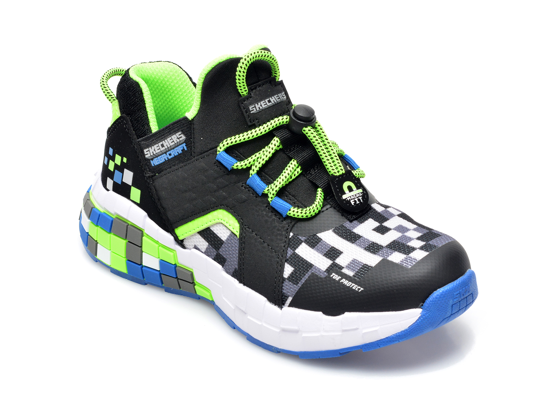 Pantofi sport SKECHERS multicolor, Mega, din material textil si piele ecologica