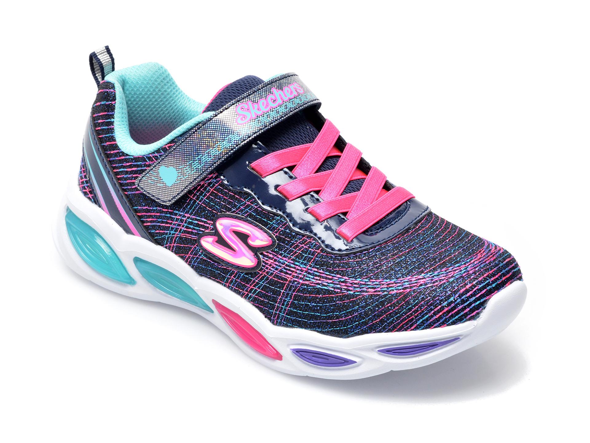 Pantofi sport SKECHERS multicolor, Shimmer Beams Sparkle Glow, din material textil imagine otter.ro