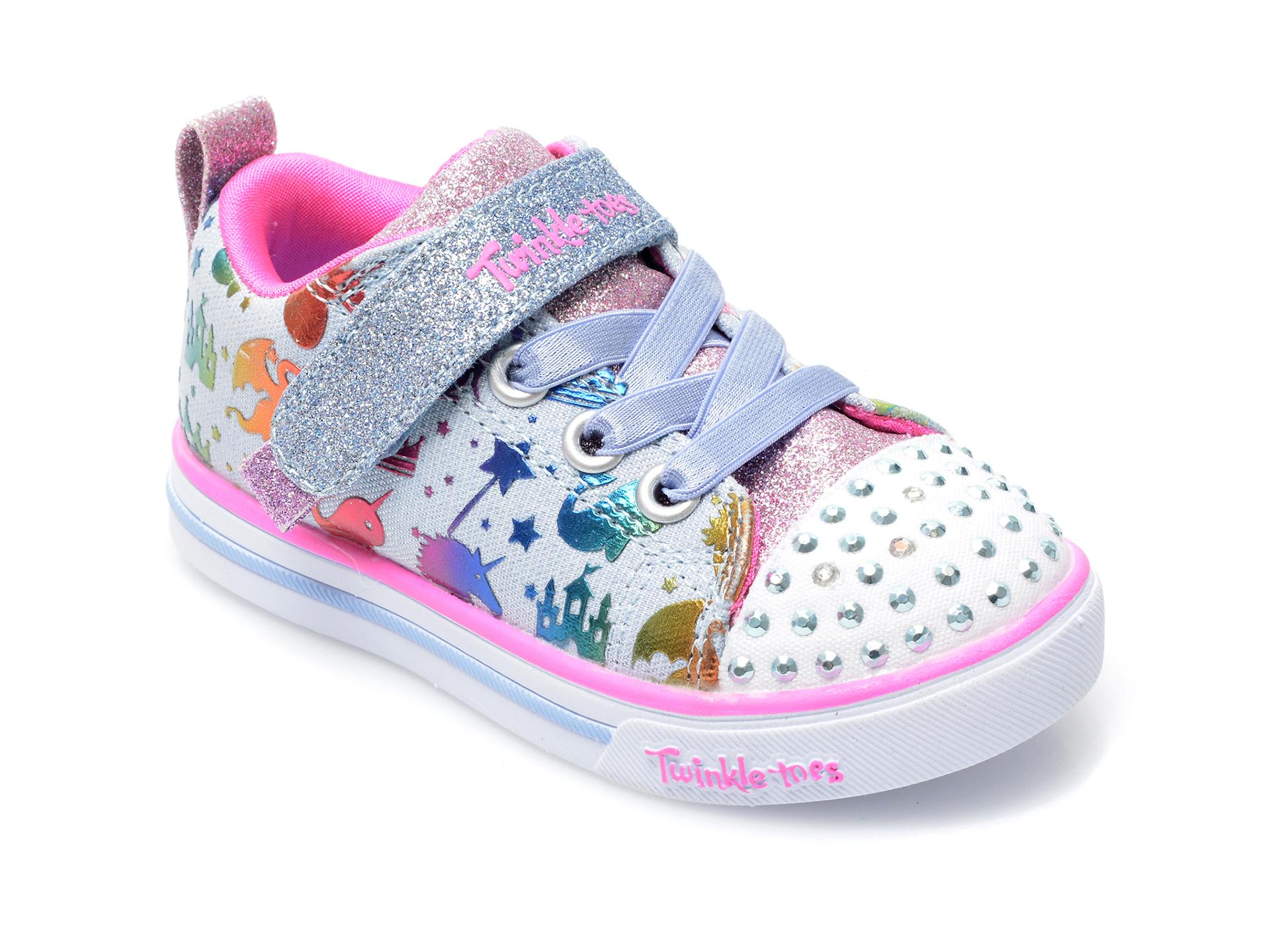 Pantofi sport SKECHERS multicolor, Sparkle Lite, din material textil imagine otter.ro