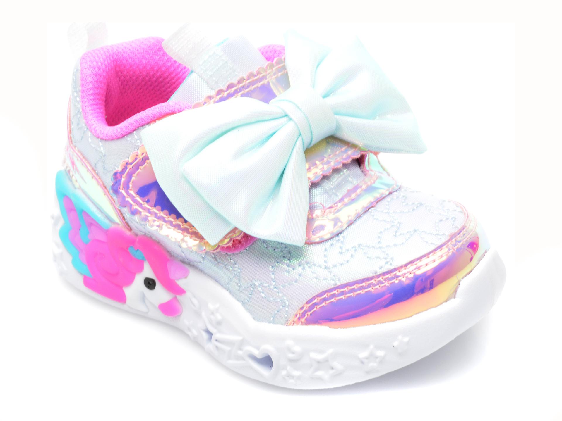 Pantofi sport SKECHERS multicolor, UNICORN CHARMER, din piele ecologica