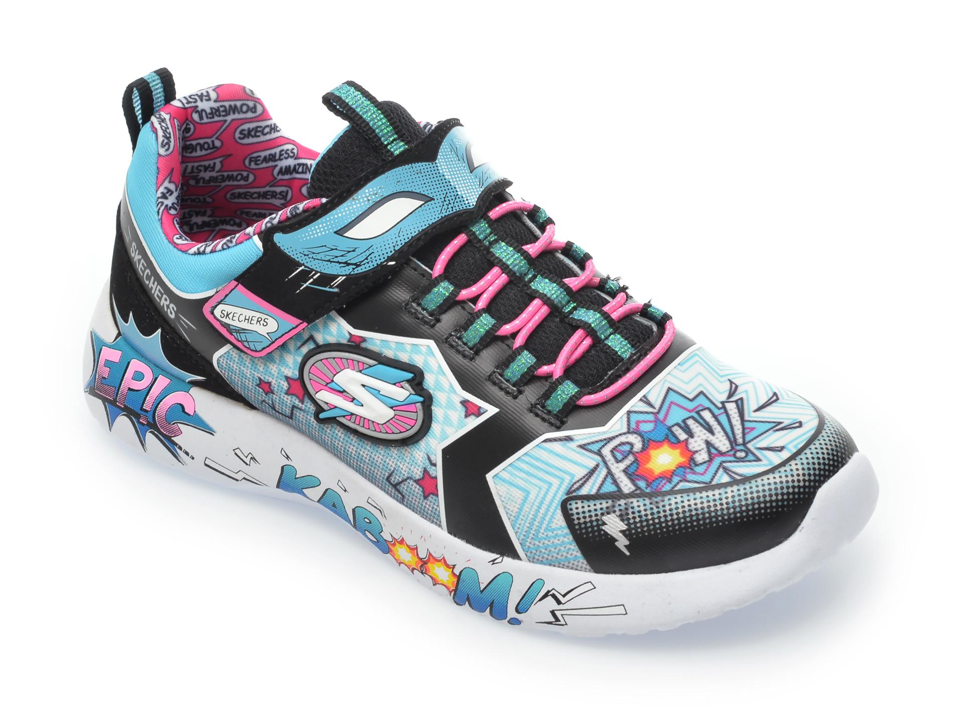 Pantofi sport SKECHERS multicolori, Dynamight, din material textil imagine otter.ro