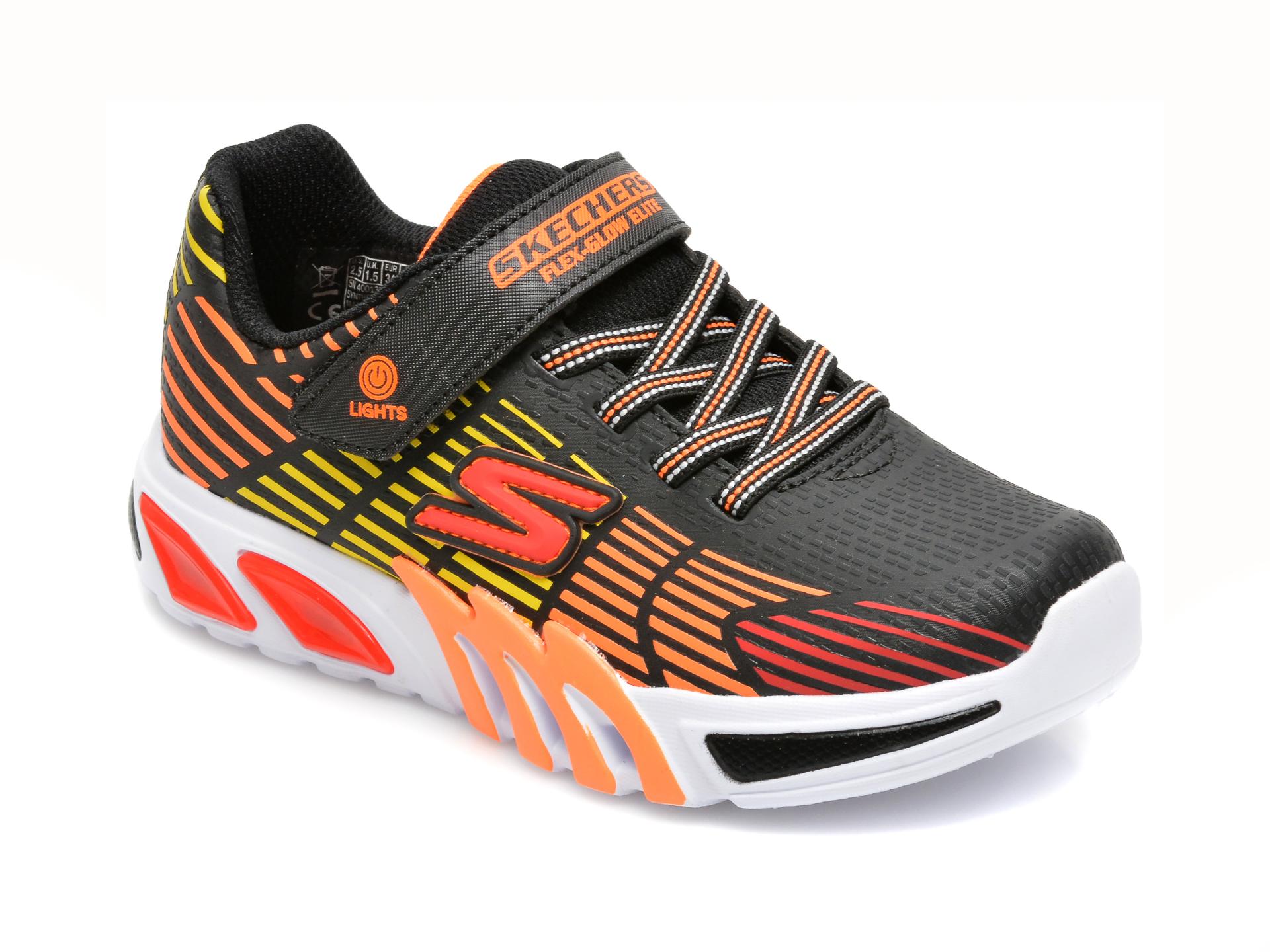 Pantofi sport SKECHERS multicolori, FLEX-GLOW ELITE, din piele ecologica