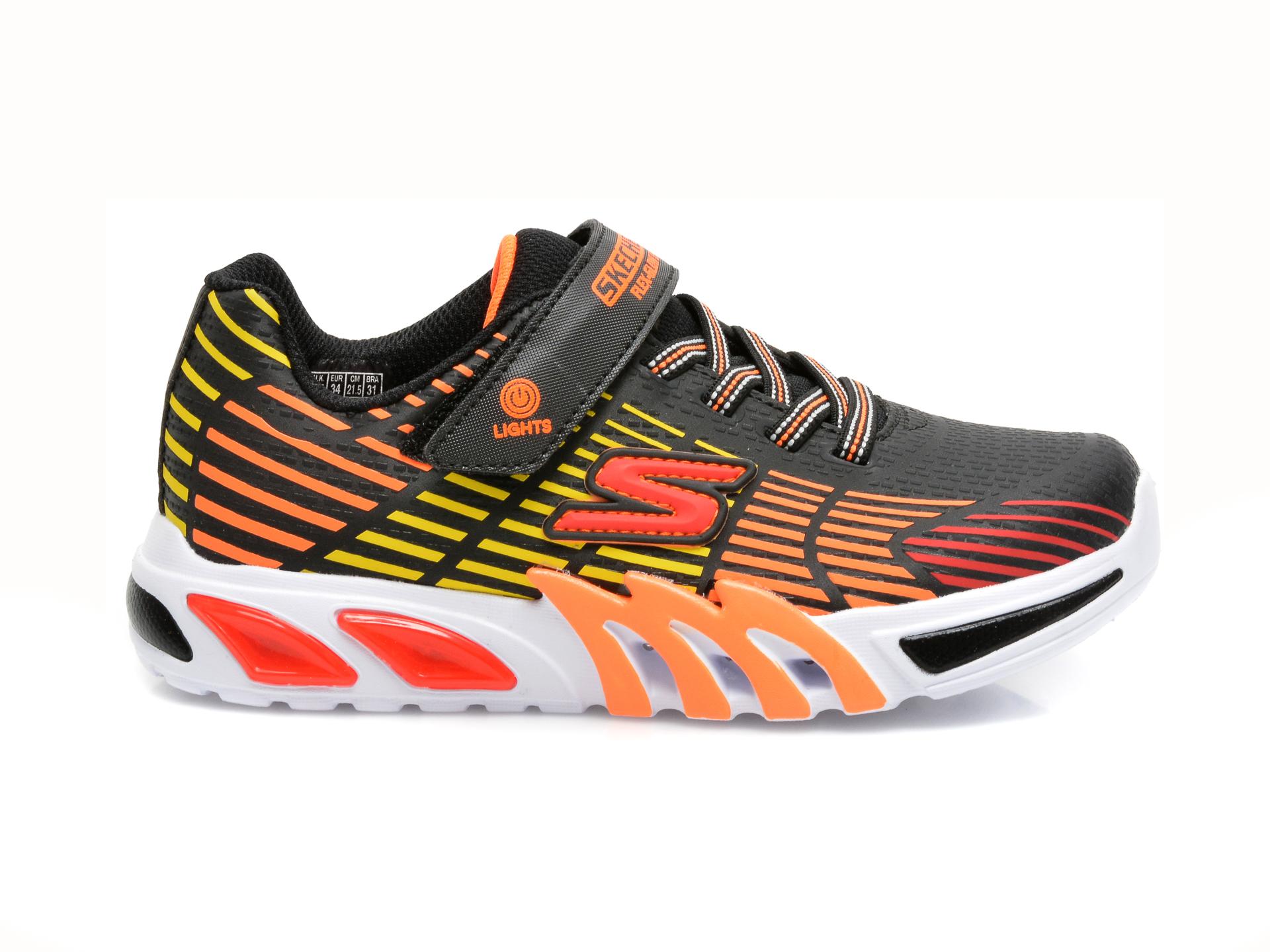 Pantofi sport SKECHERS multicolori, FLEX-GLOW ELITE, din piele ecologica - 1