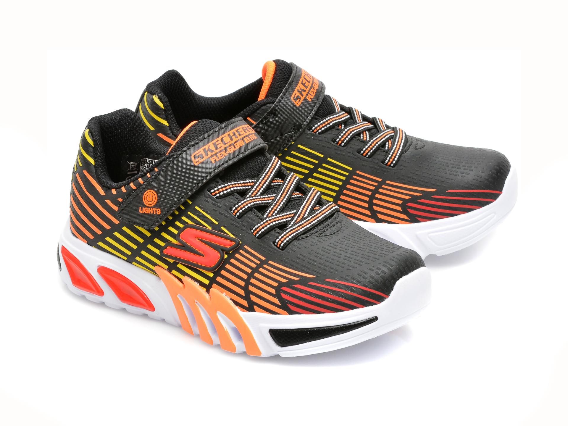 Pantofi sport SKECHERS multicolori, FLEX-GLOW ELITE, din piele ecologica - 4