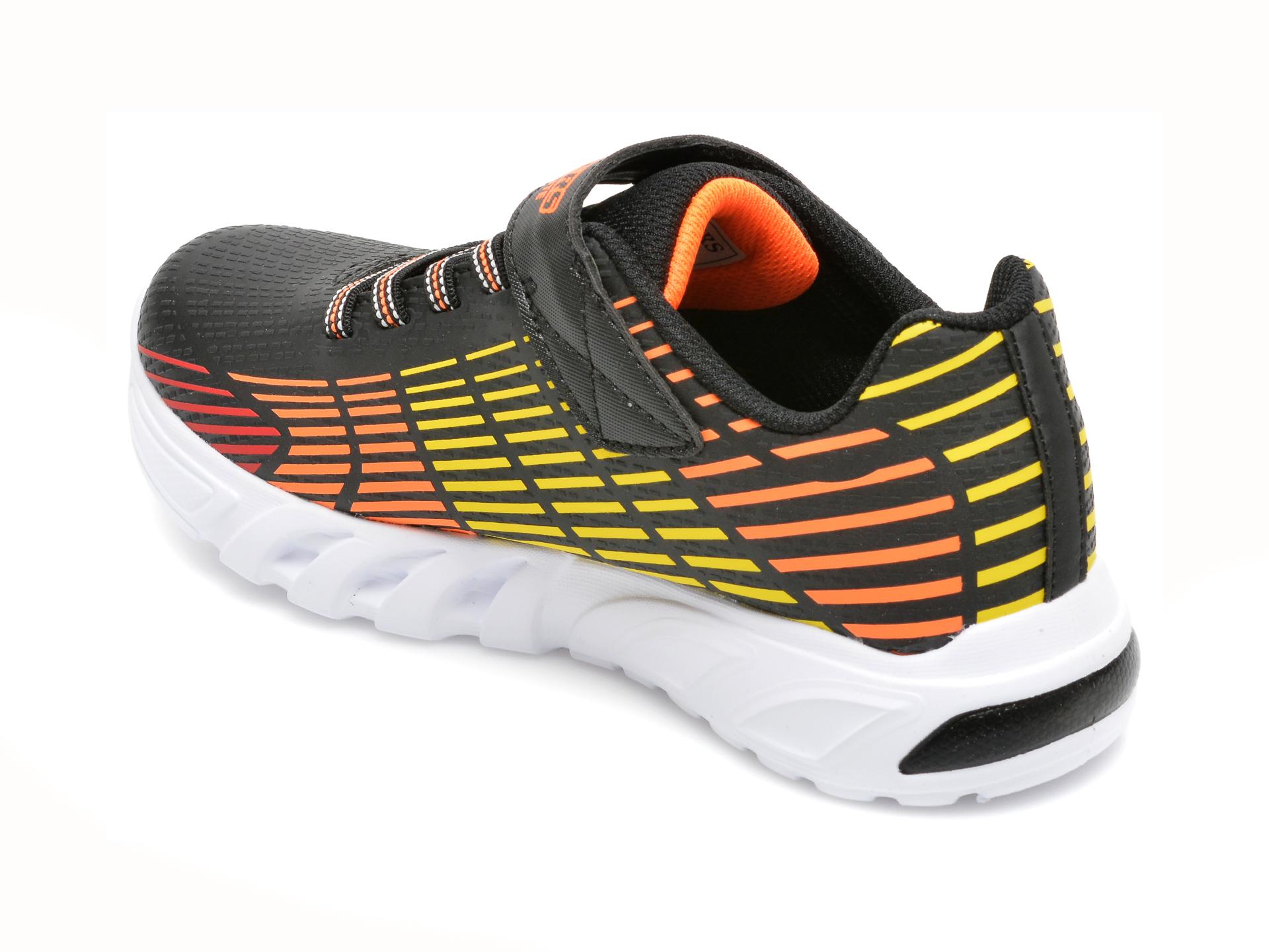 Pantofi sport SKECHERS multicolori, FLEX-GLOW ELITE, din piele ecologica - 5