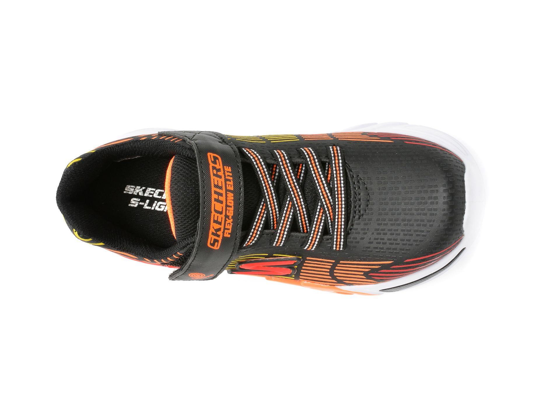 Pantofi sport SKECHERS multicolori, FLEX-GLOW ELITE, din piele ecologica - 6