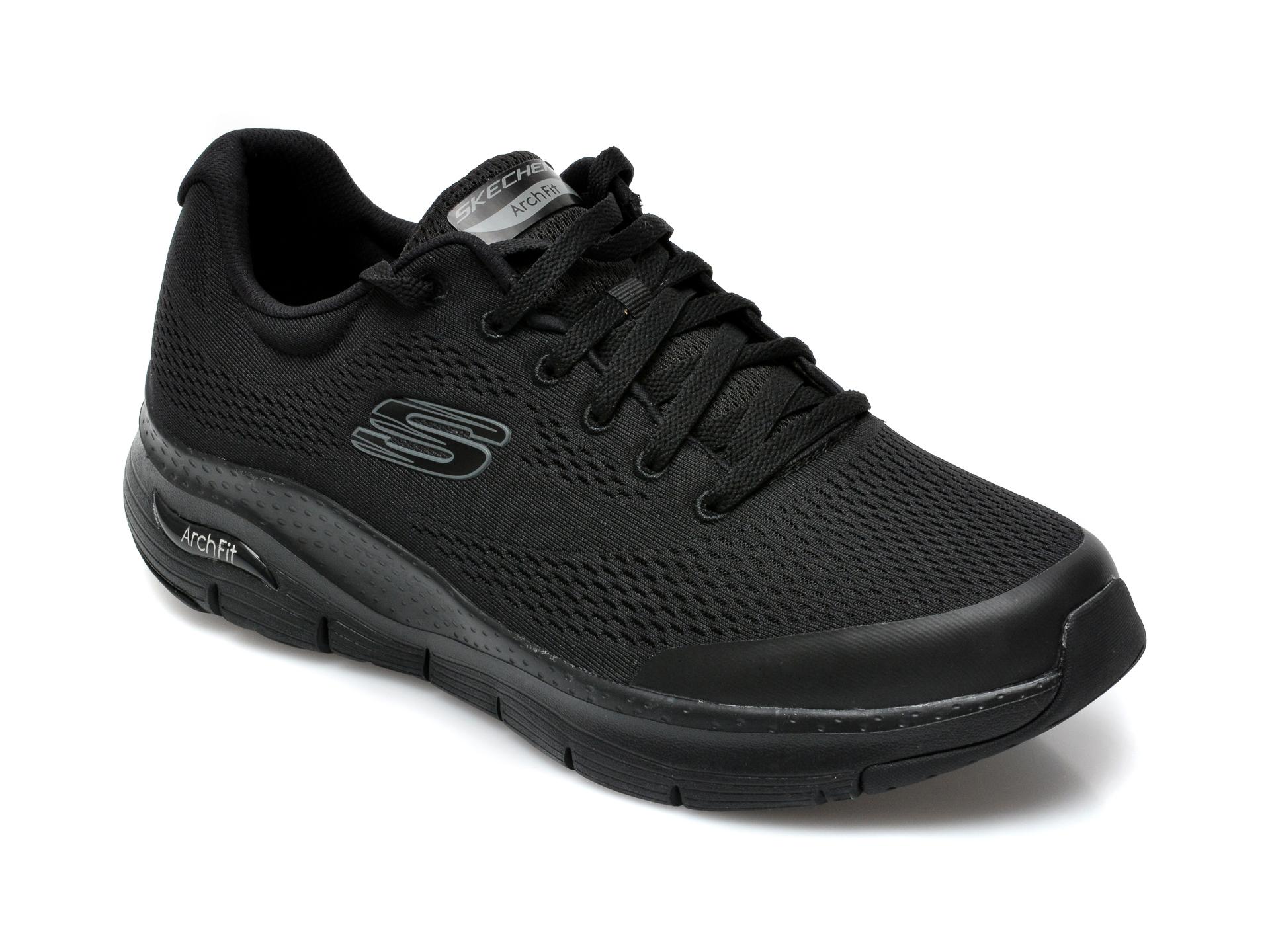 Pantofi sport SKECHERS negri, Arch Fit, din material textil imagine