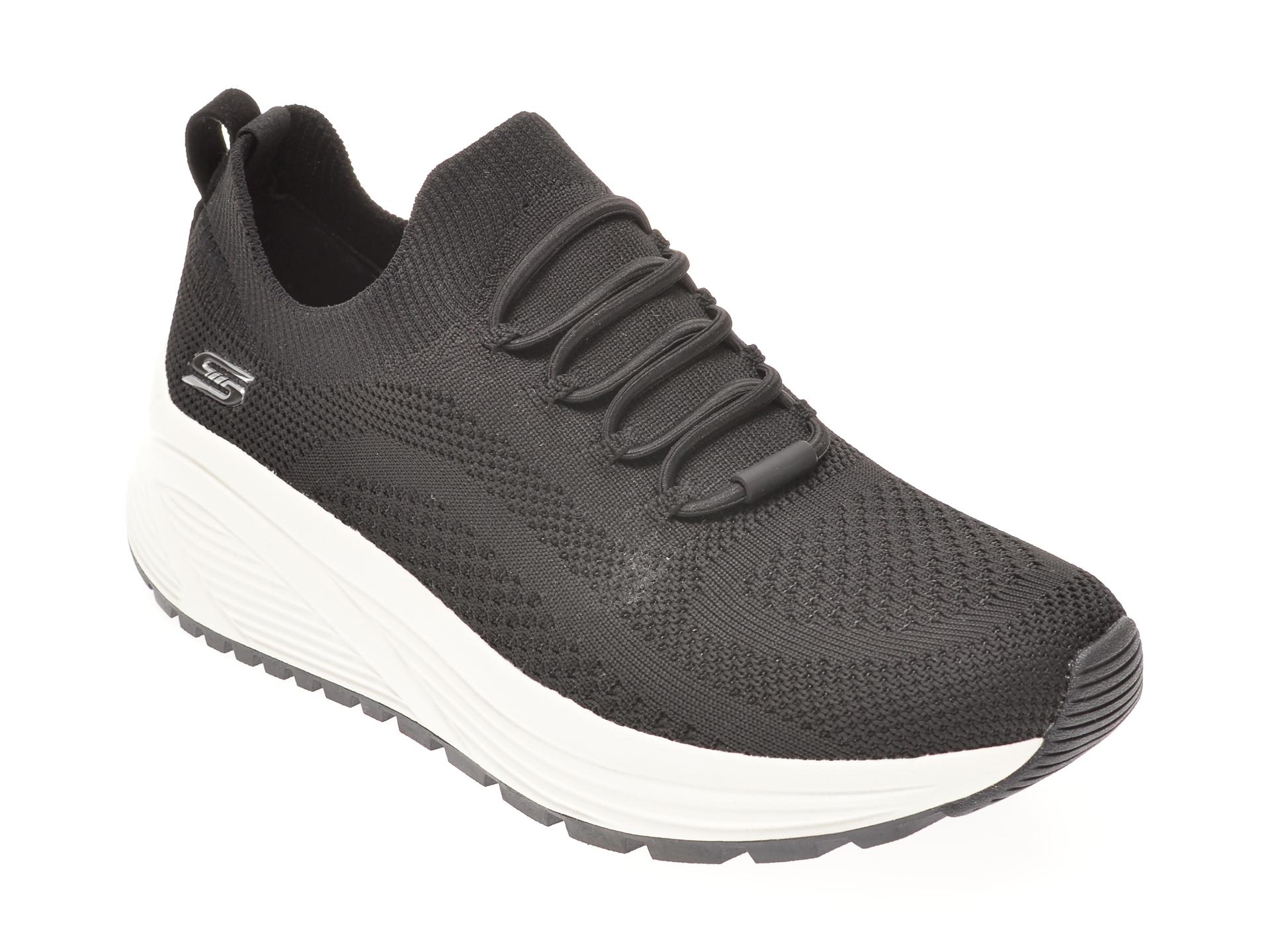 Pantofi sport SKECHERS negri, BOBS SPARROW 2.0 ALLEGIANCE CREW, din material textil