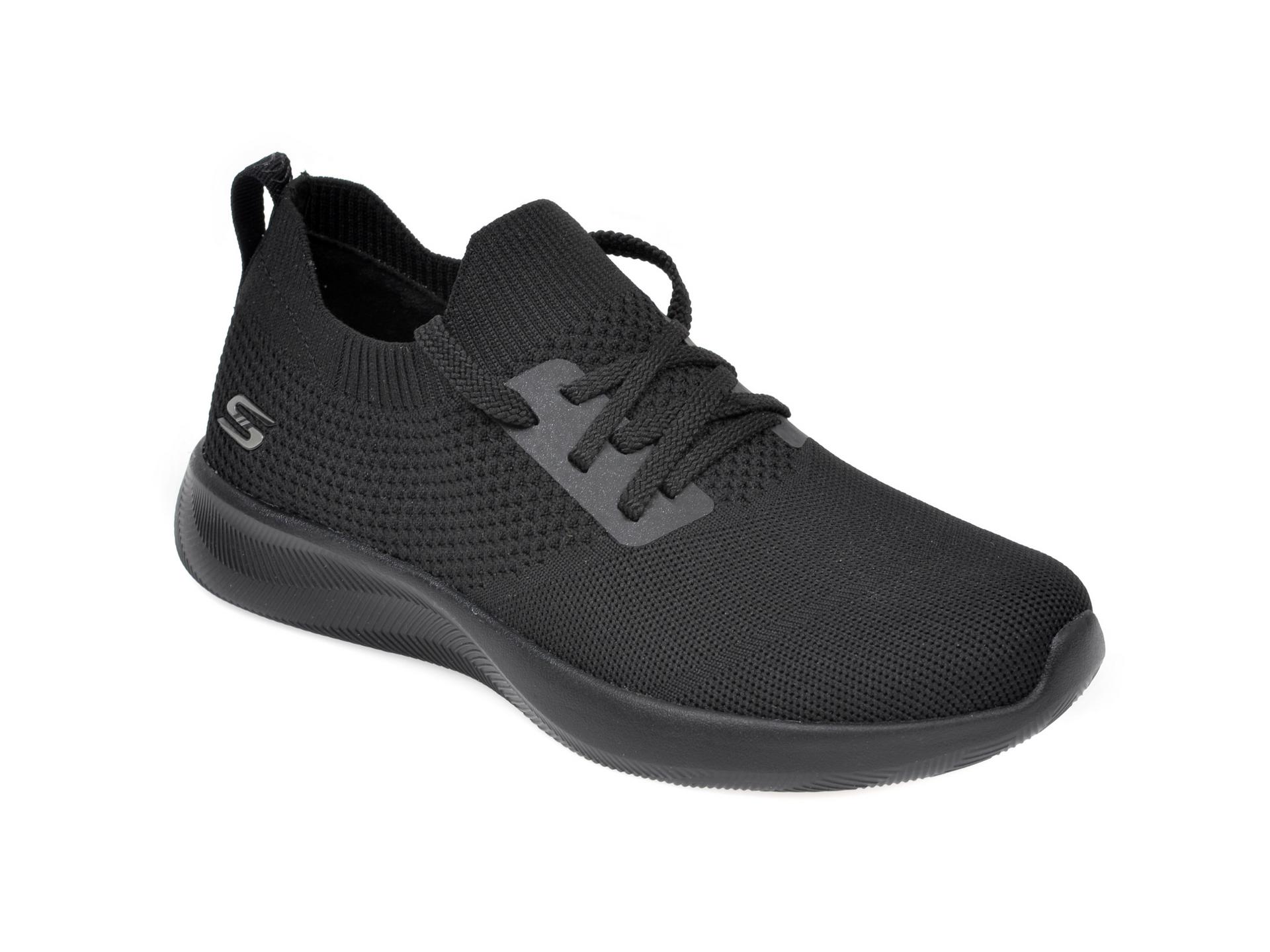 Pantofi sport SKECHERS negri, Bobs Squad 2 Shot Caller, din material textil imagine