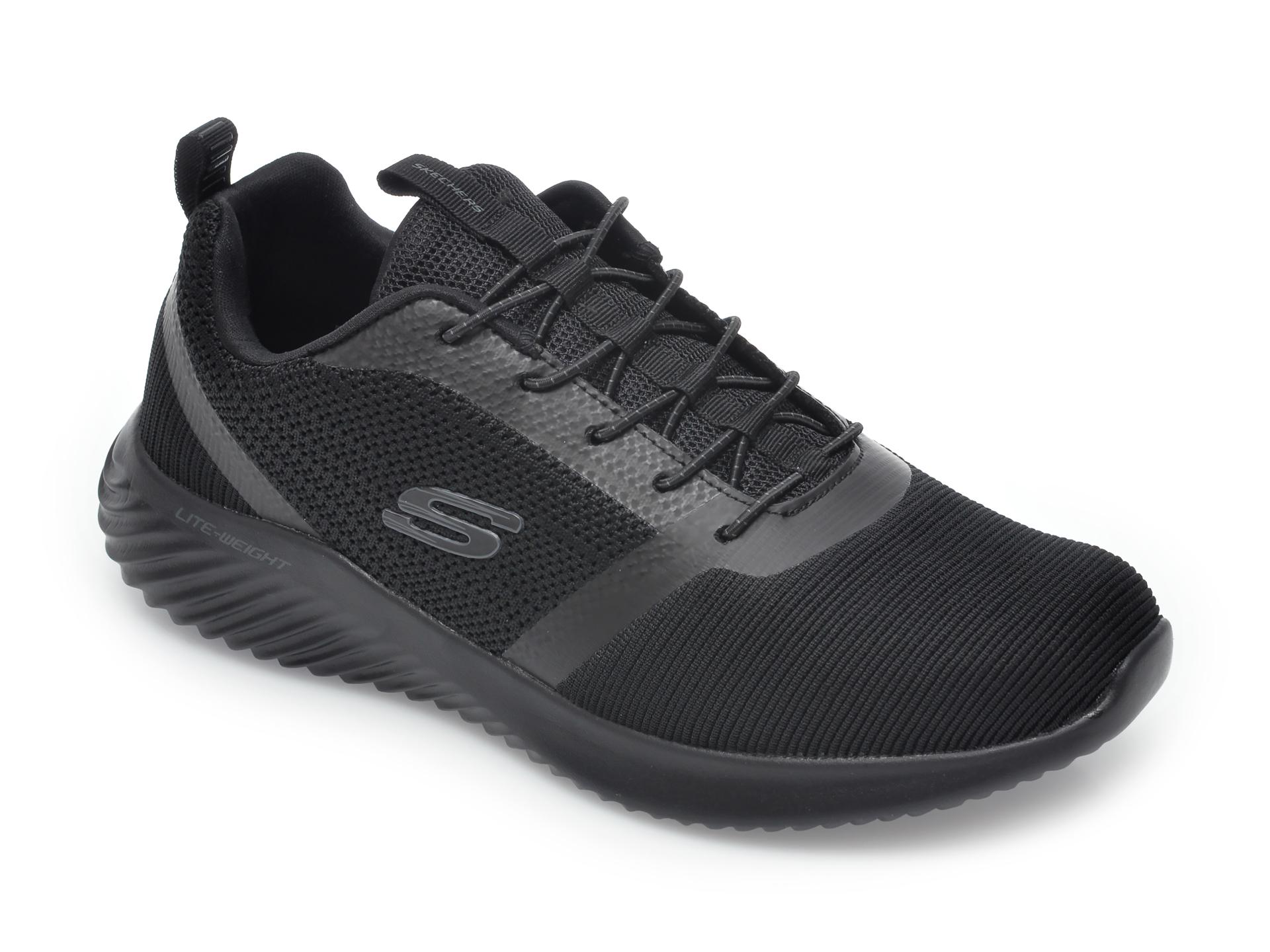 Pantofi sport SKECHERS negri, Bounder, din material textil imagine